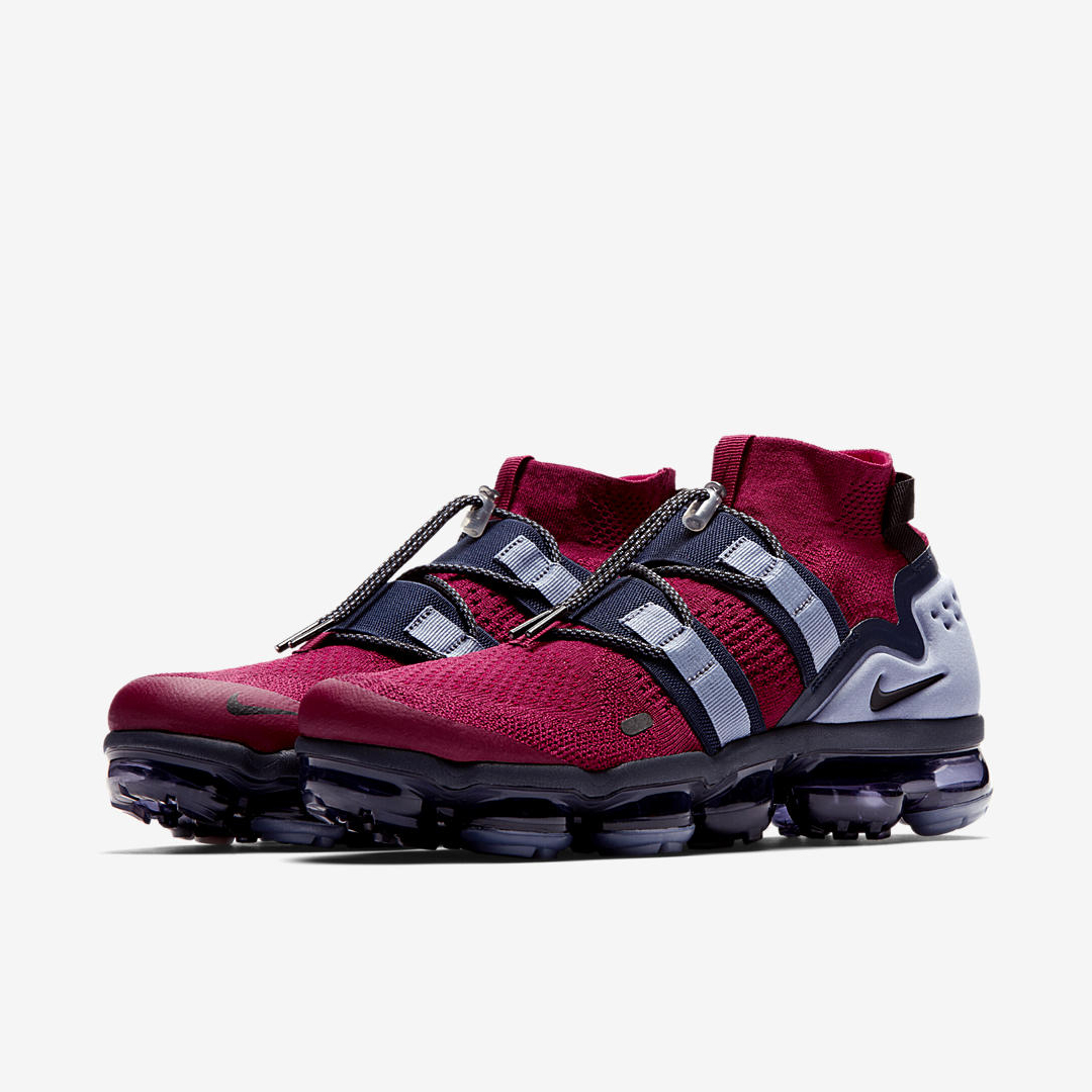 NIKE AIR VAPORMAX FLYKNIT UTILITY TEAM RED:BLACK:OBSIDIAN:ASHEN SLATE 1