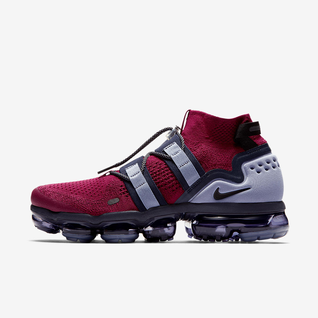 NIKE AIR VAPORMAX FLYKNIT UTILITY TEAM RED:BLACK:OBSIDIAN:ASHEN SLATE 3