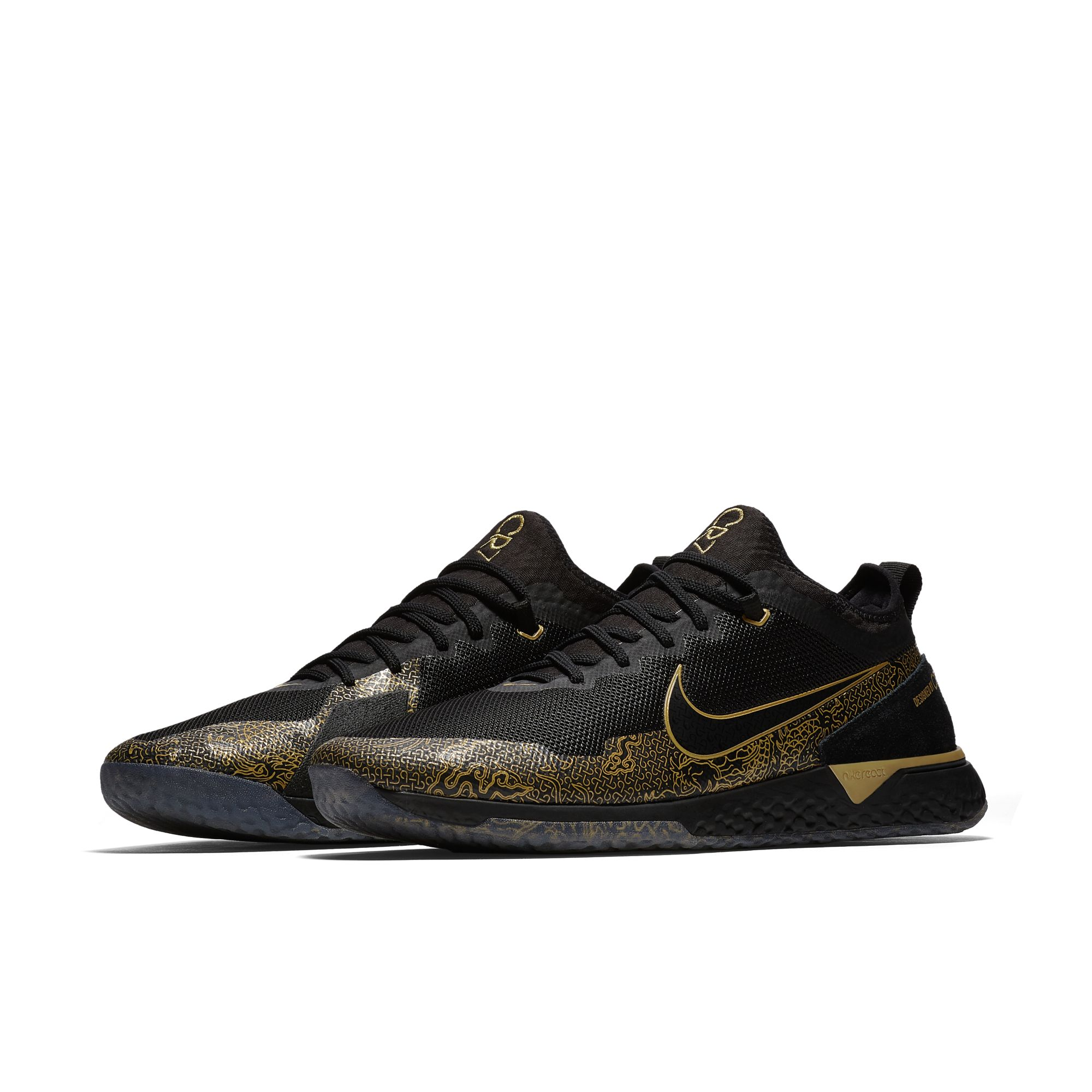 NIKE FC CR7 BLACK:METALLIC GOLD:BLACK 2