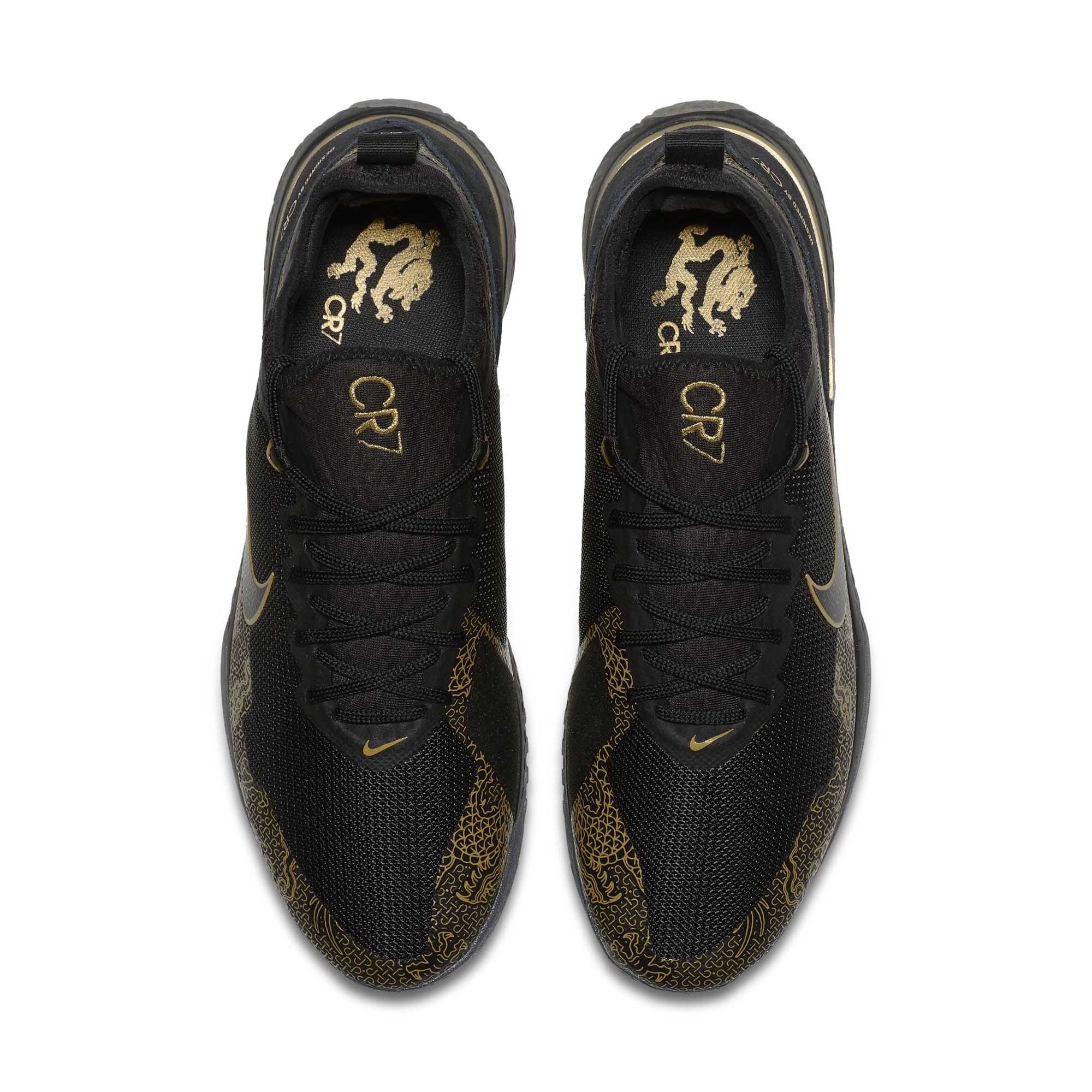 NIKE FC CR7 BLACK:METALLIC GOLD:BLACK 3