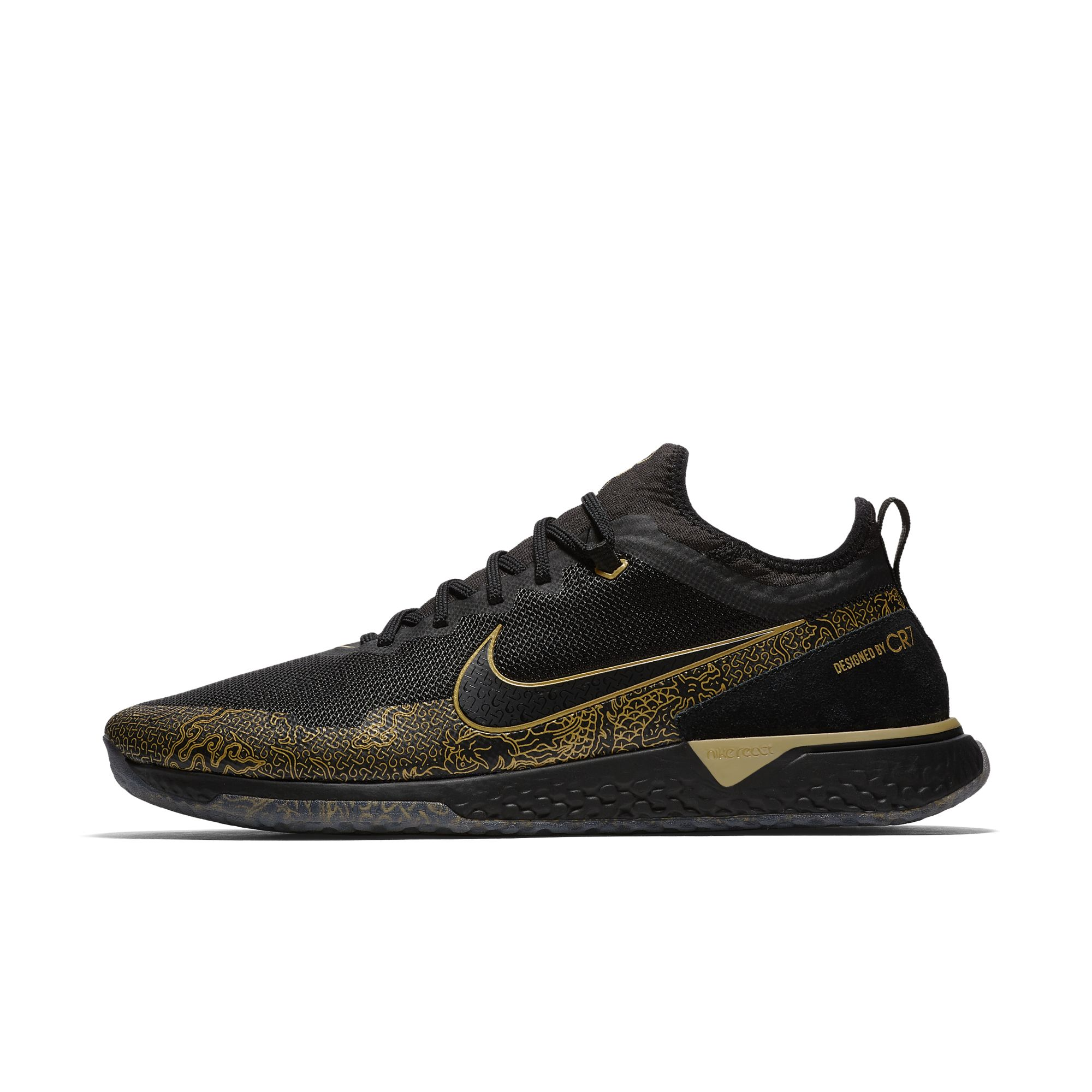 NIKE FC CR7 BLACK:METALLIC GOLD:BLACK 4