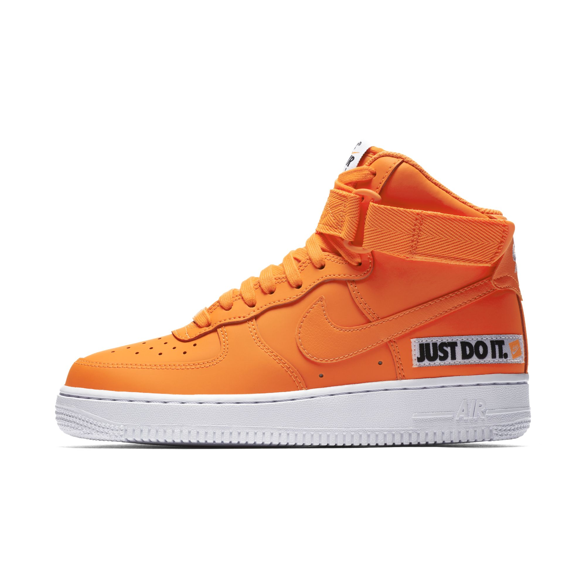 NIKE WMNS AIR FORCE 1 HIGH LX LEATHER TOTAL ORANGE WHITE 3 ...