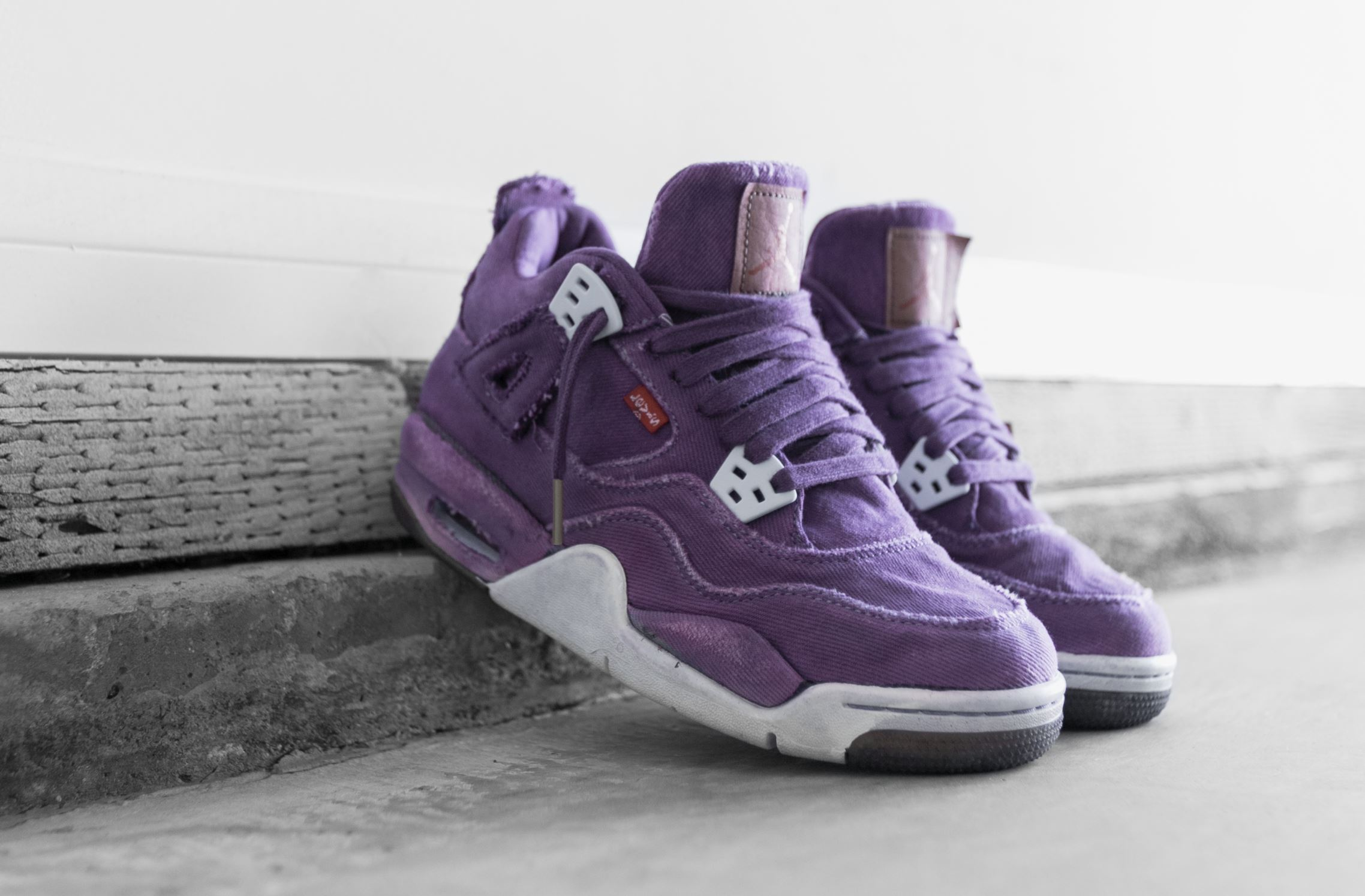 levis air jordan 4 purple custom jennizerr 1