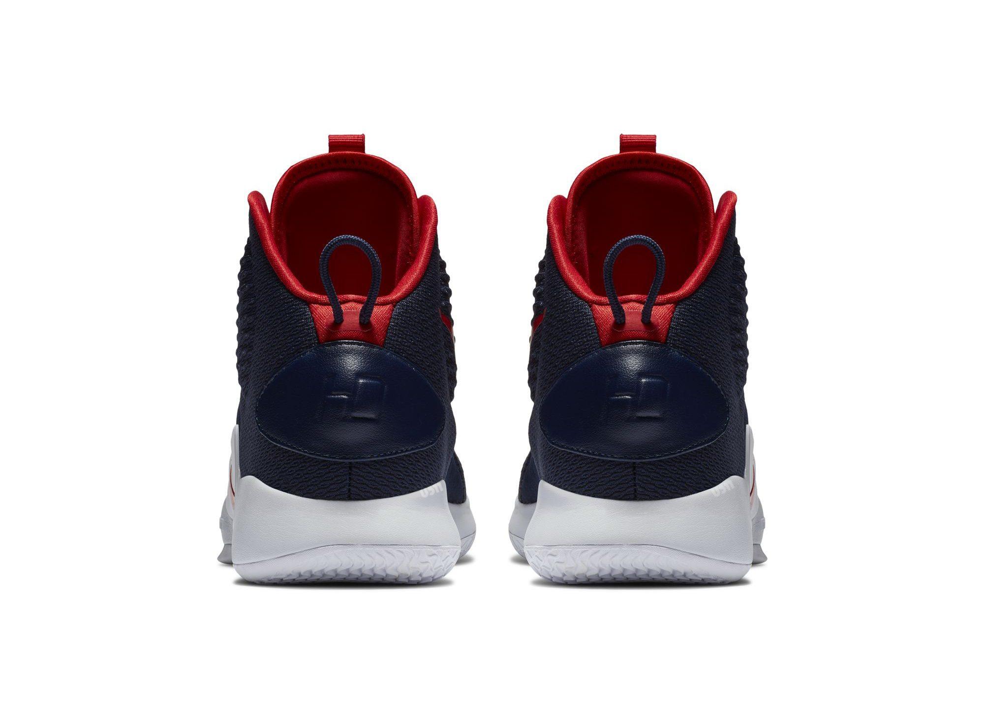nike hyperdunk x blue red heel