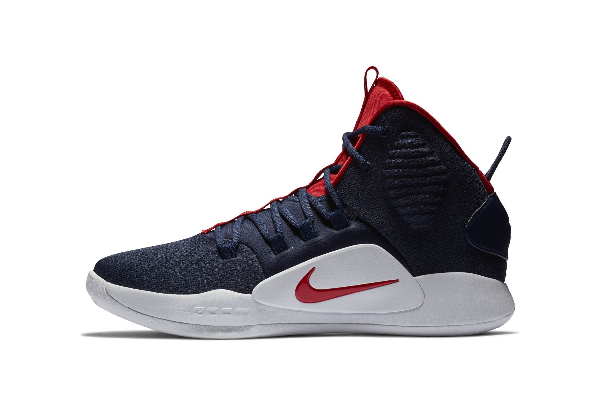 nike hyperdunk x blue red lateral