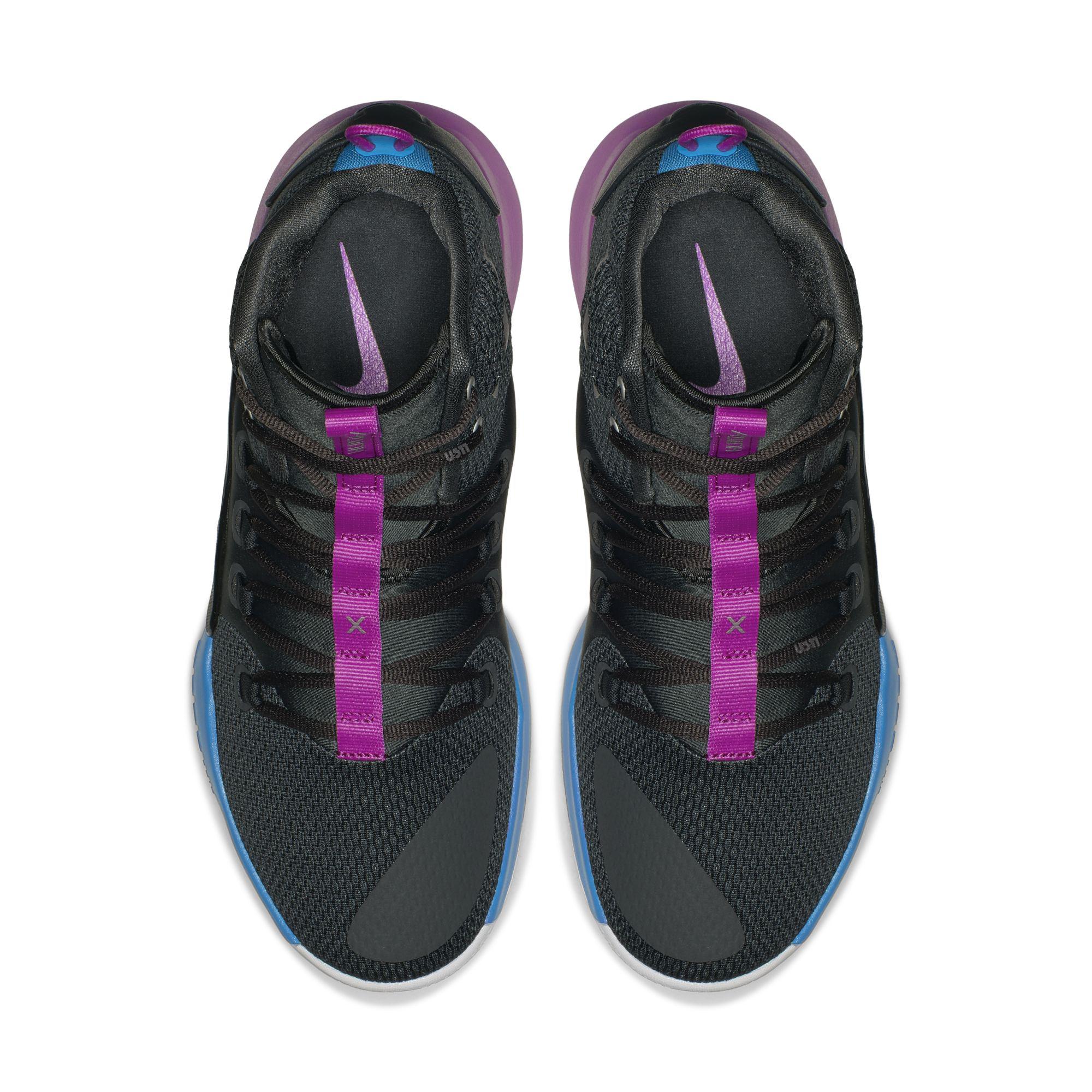 nike hyperdunk x purple fade top
