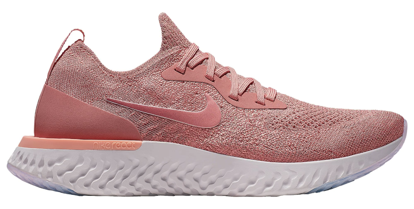 womens nike epic react flyknit rust pink