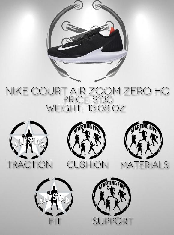 Nike Court Air Zoom Zero HC Performance Review score
