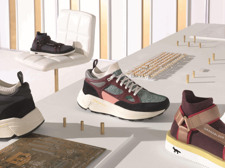 brandblack x maison kitsune shoes