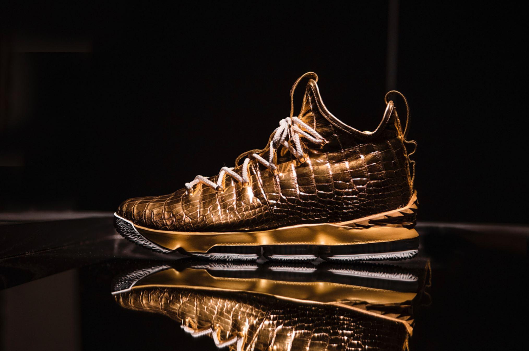 diamond and gold lebron 15 the shoe surgeon