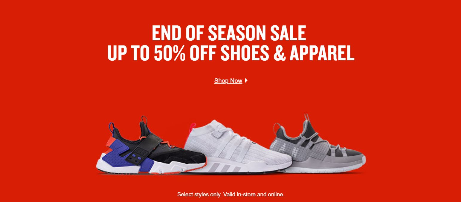 finish line end of season sale