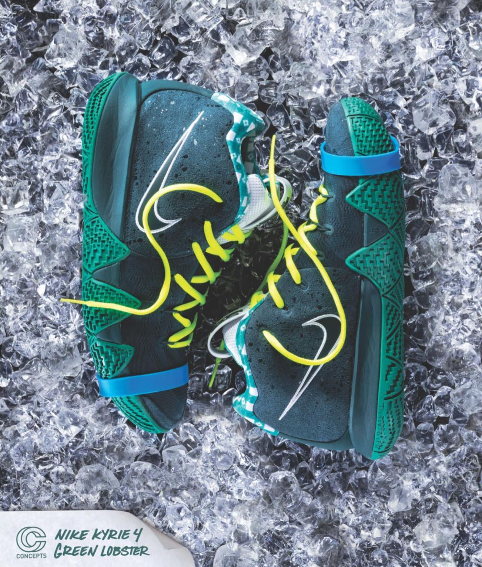 nike kyrie 4 green lobster cncpts