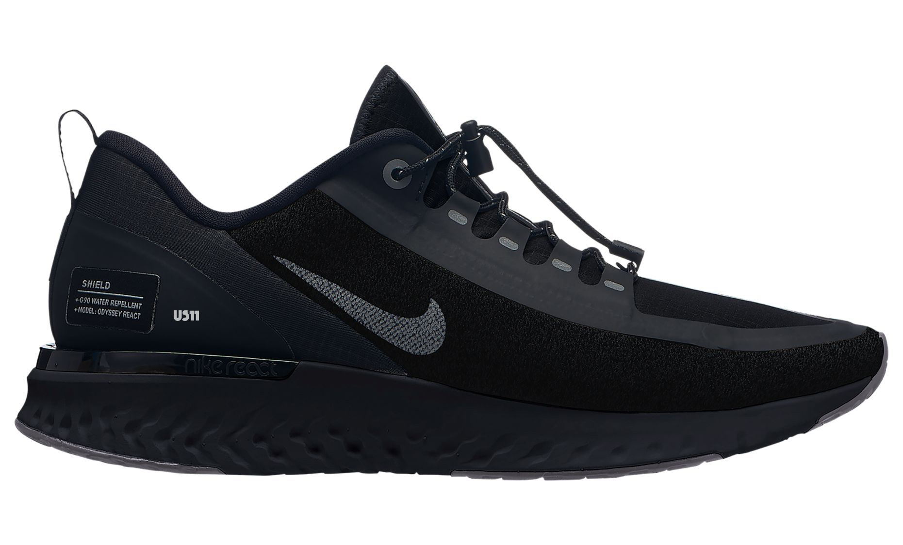 nike odyssey react shield triple black