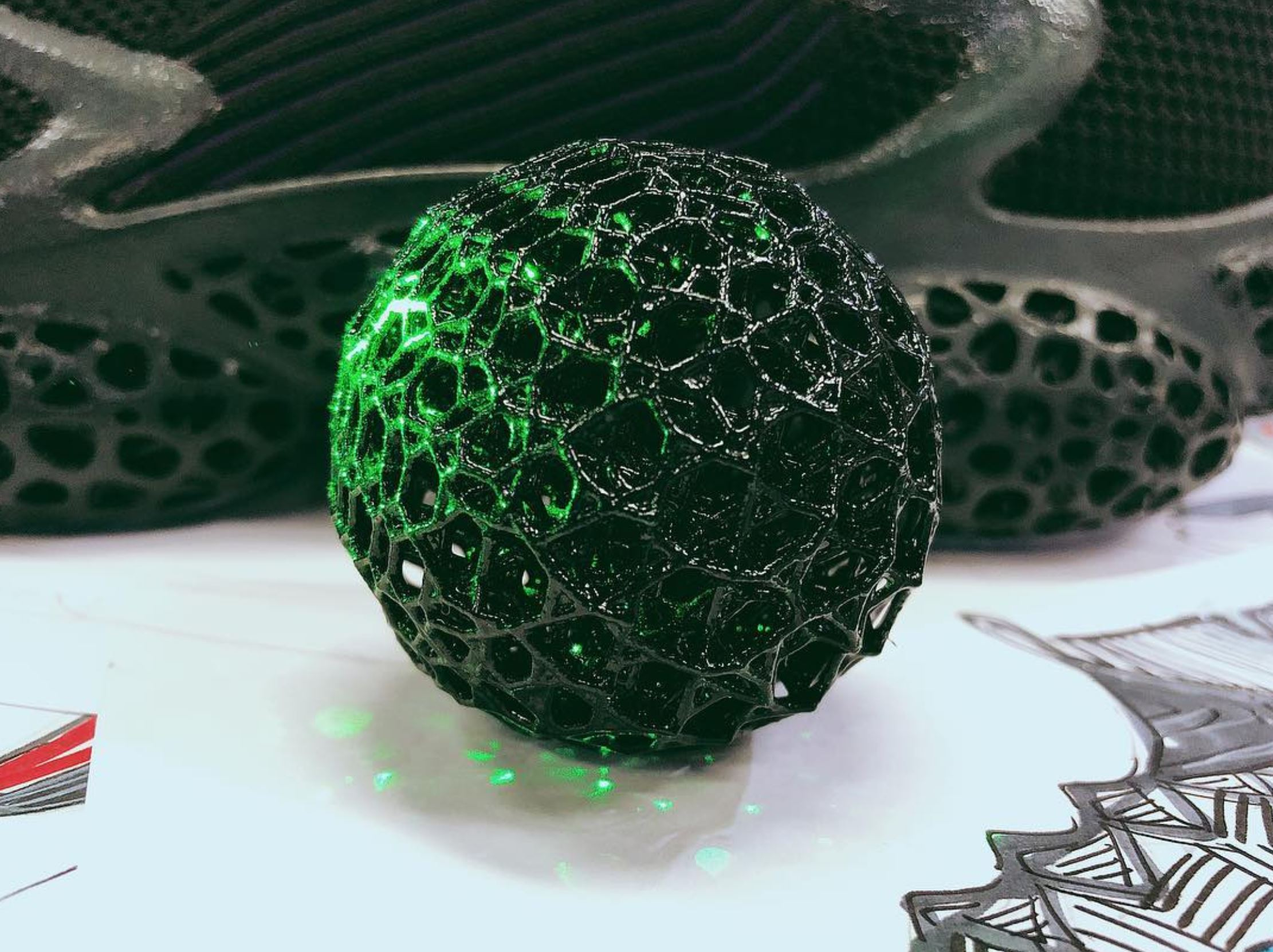 peak 3D printed basketball shoe
