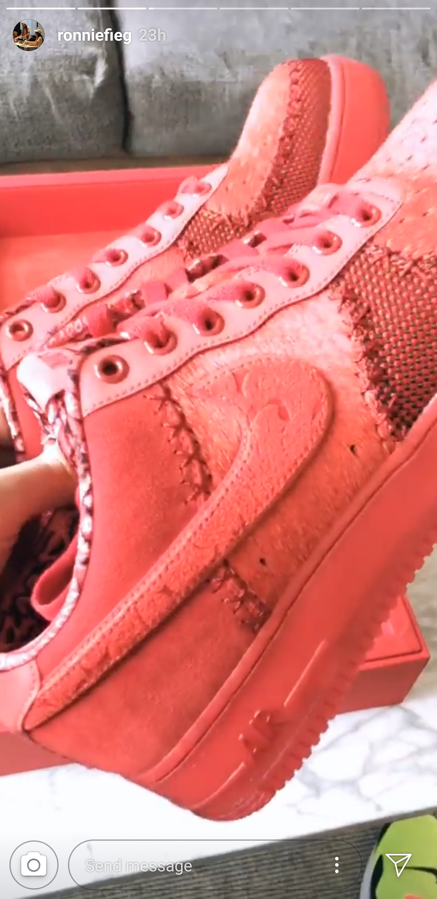 Ronnie Fieg Shows Off Rare 'OBJ' Air Force 1 Low WearTesters