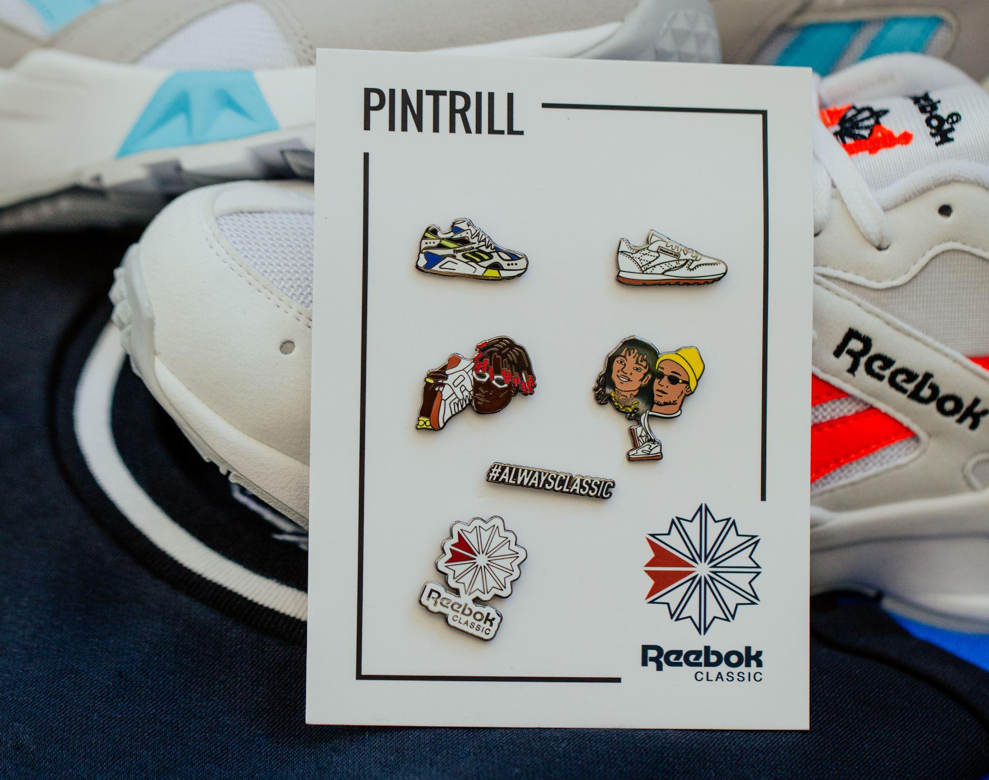 PINTRILL REEBOK AZTREK pin set 1