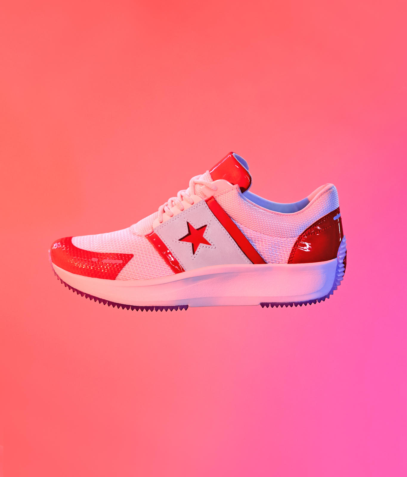 converse run star red