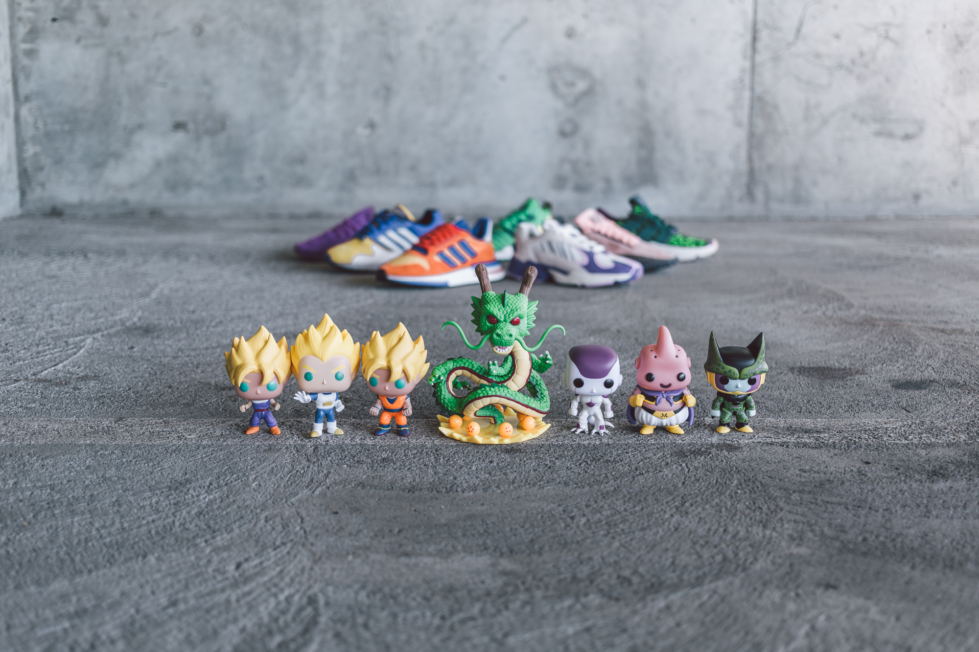 dragon ball z adidas sneakers toys