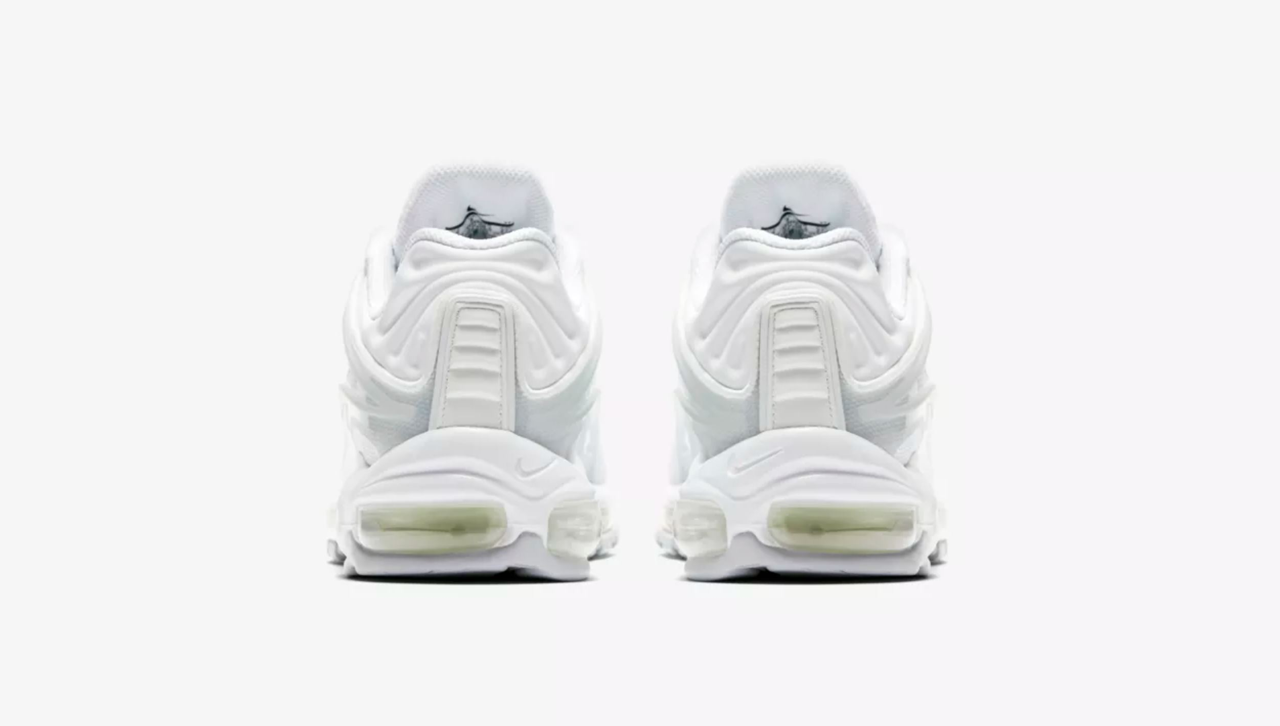 nike air max deluxe triple white heel WearTesters