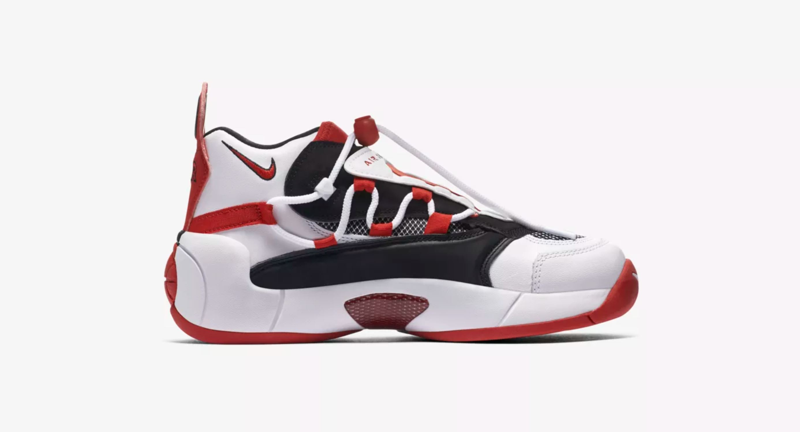 nike air swoopes 2 white red release date