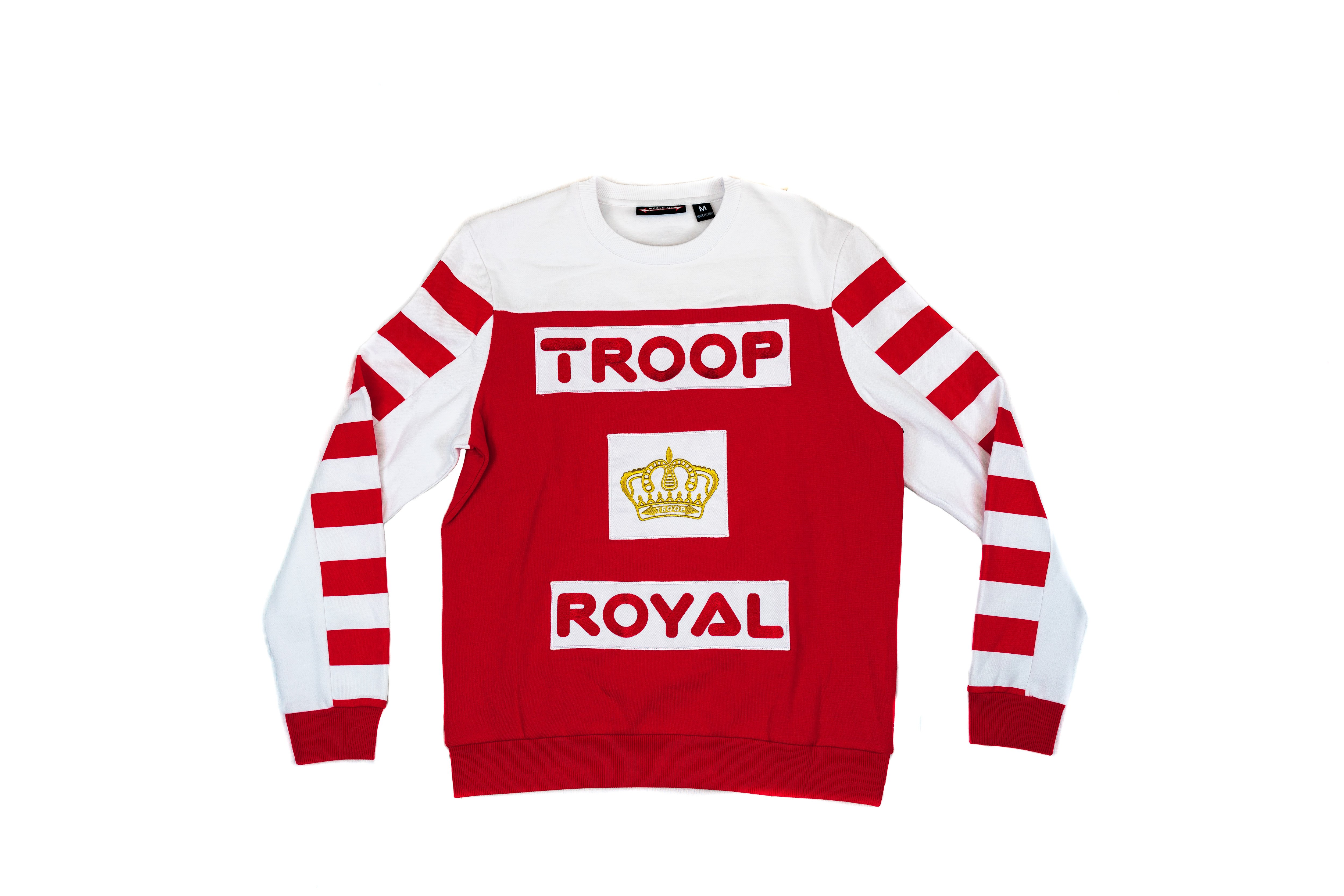 world of troop royal crew 80s apparel