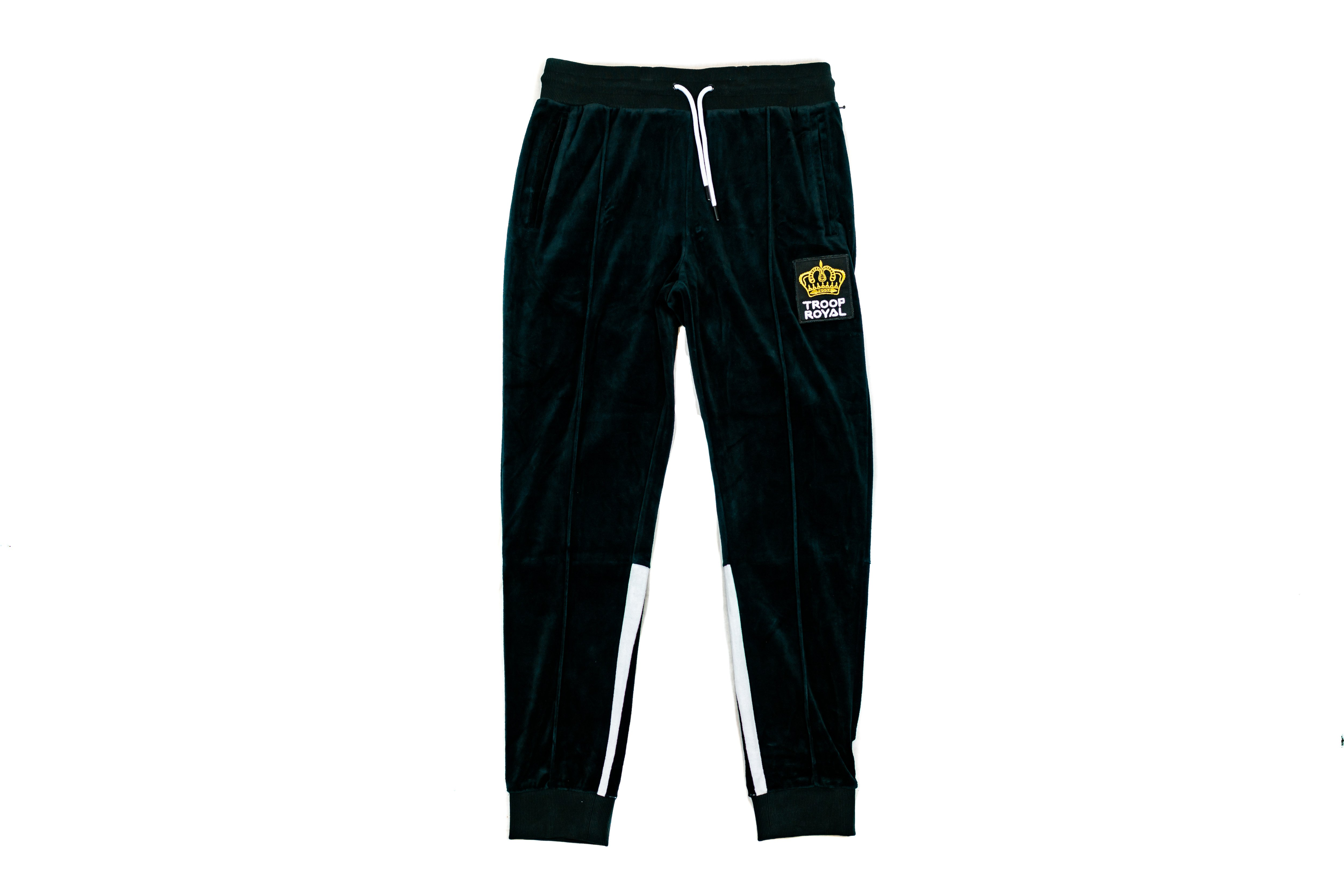 world of troop velour suit pants