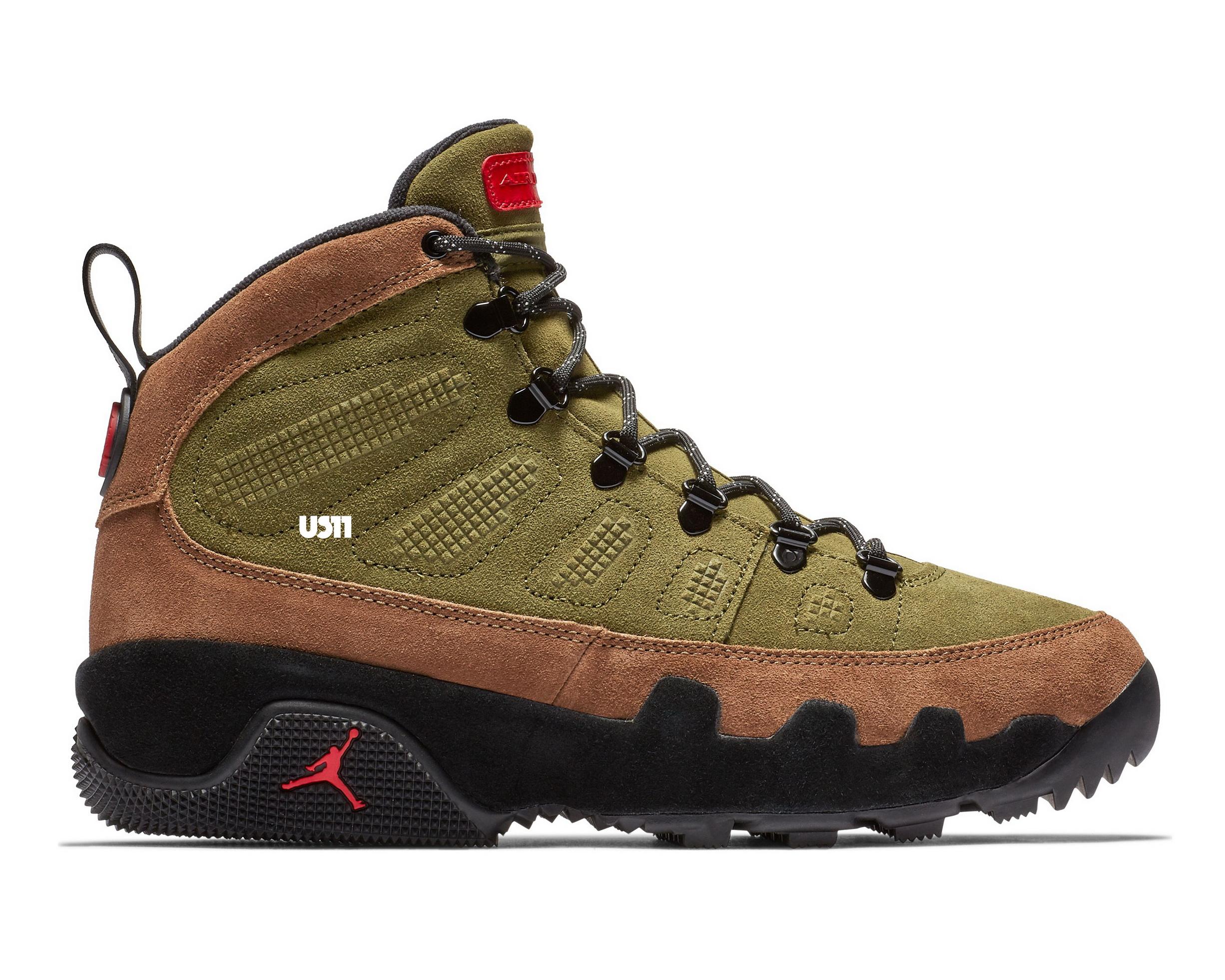 Air jordan 9 boot NRG olive release date