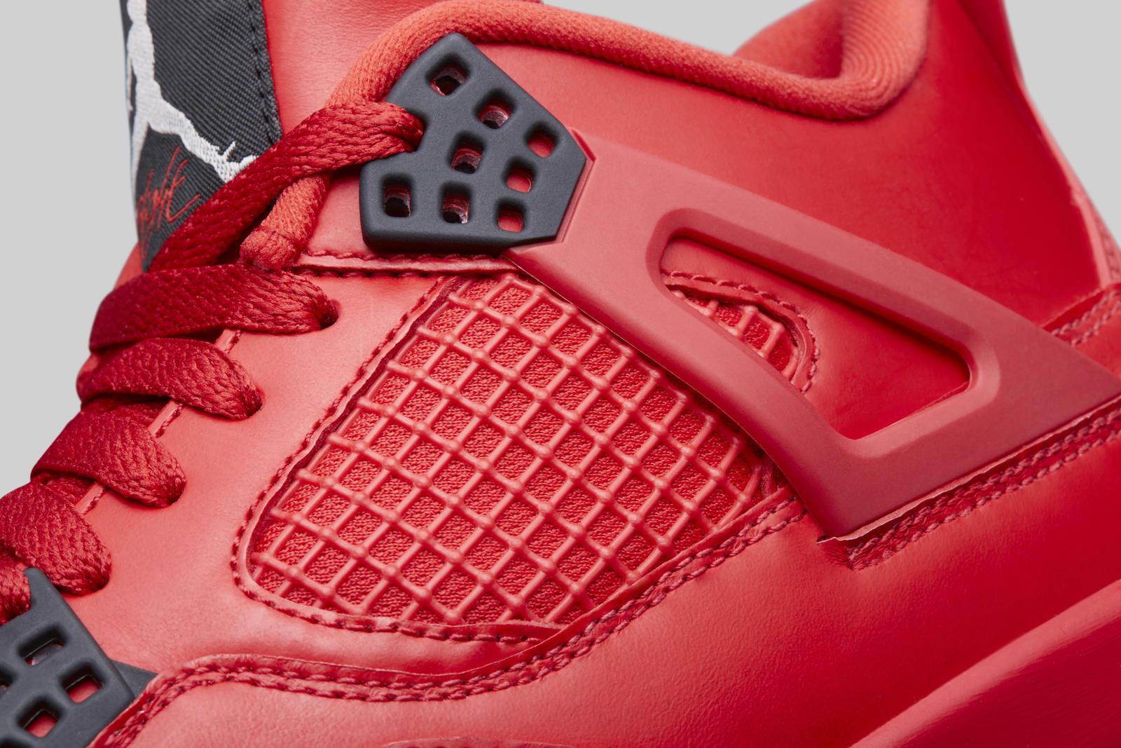 Air Jordan 4 fire red womens close