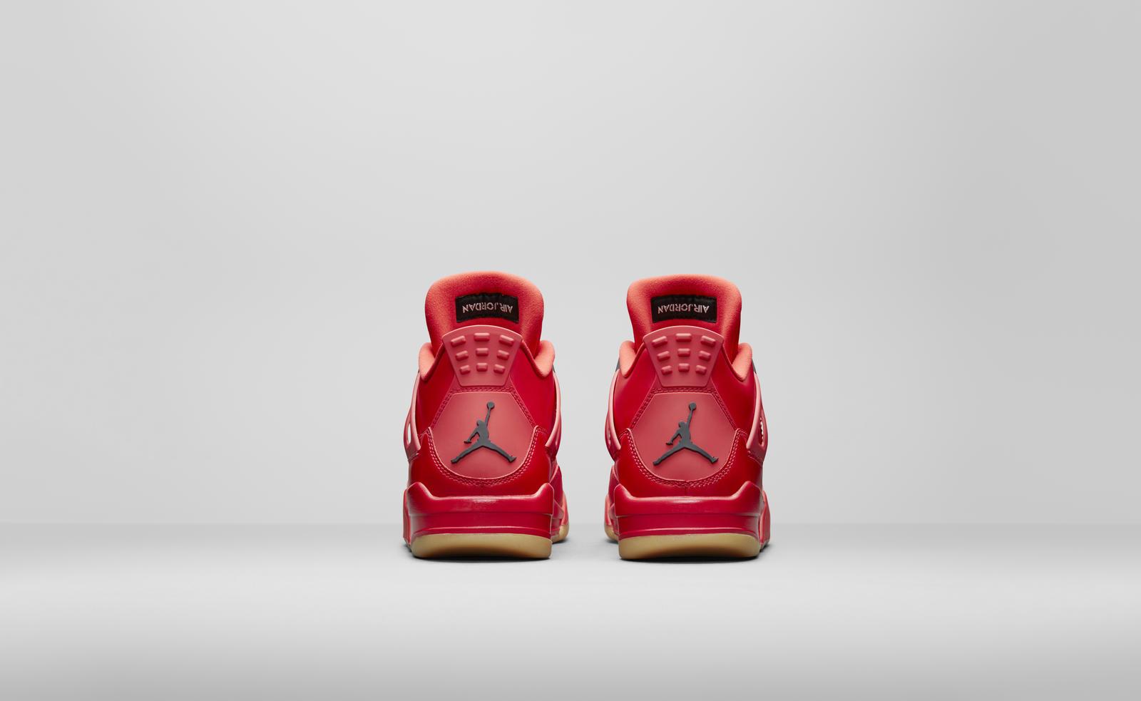 Air Jordan 4 fire red womens heels