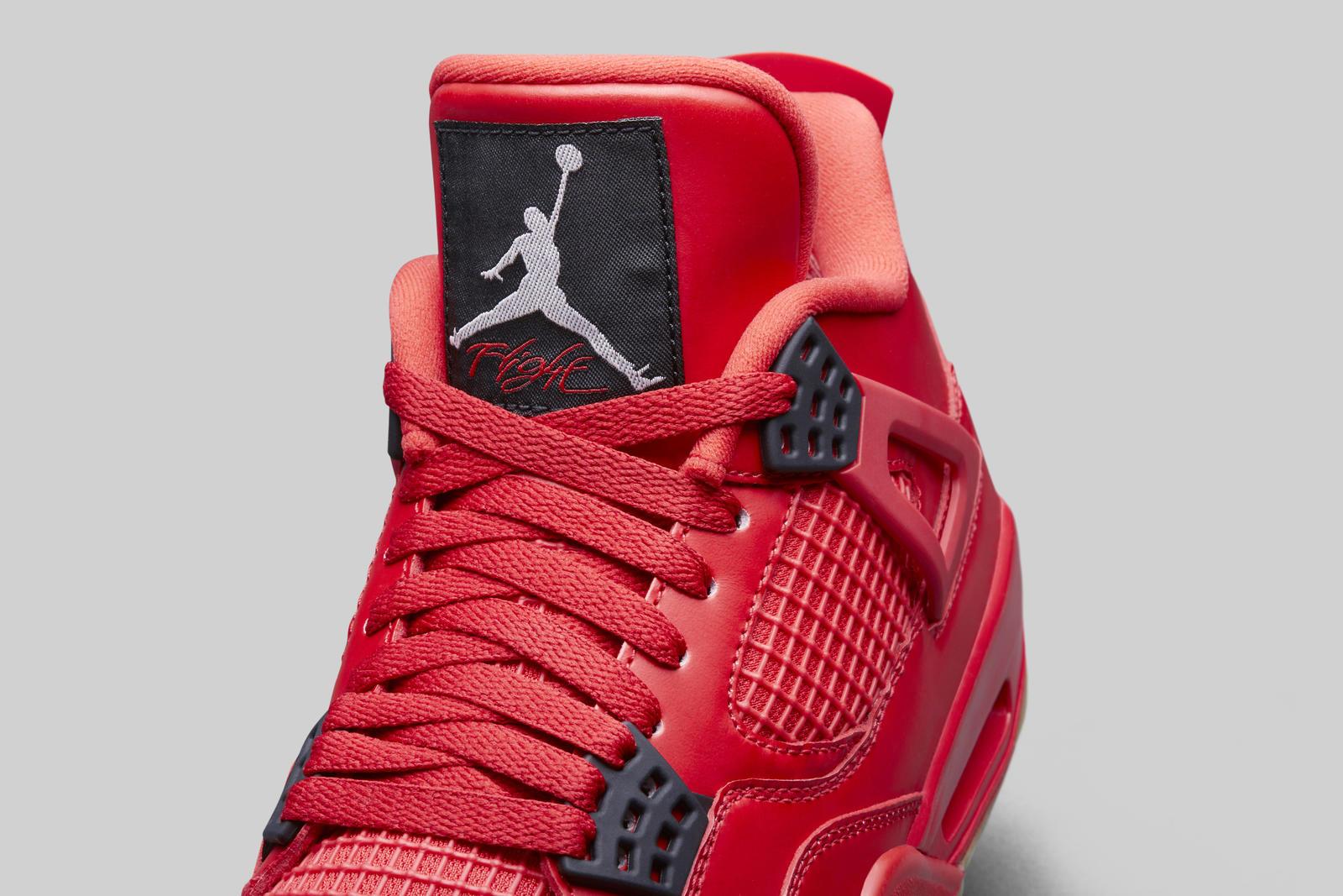 Air Jordan 4 fire red womens tongue