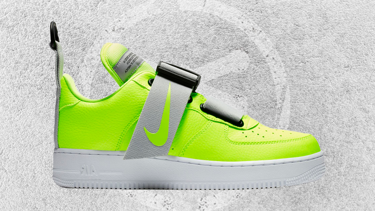 NIKE AIR FORCE 1 UTILITY VOLT-WHITE-BLACK FEATURED IMAGE