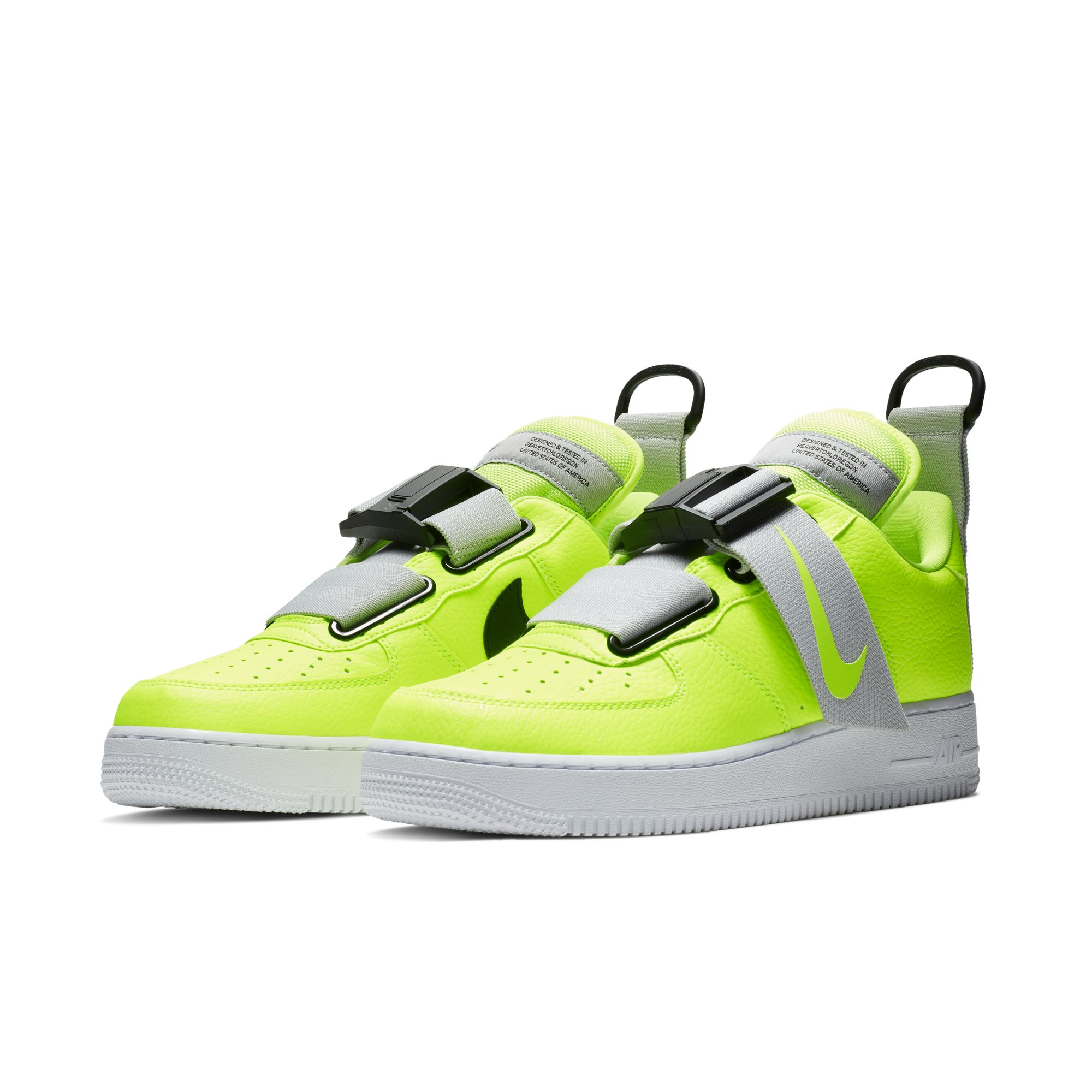 NIKE AIR FORCE 1 UTILITY VOLT:WHITE BLACK 4 WearTesters