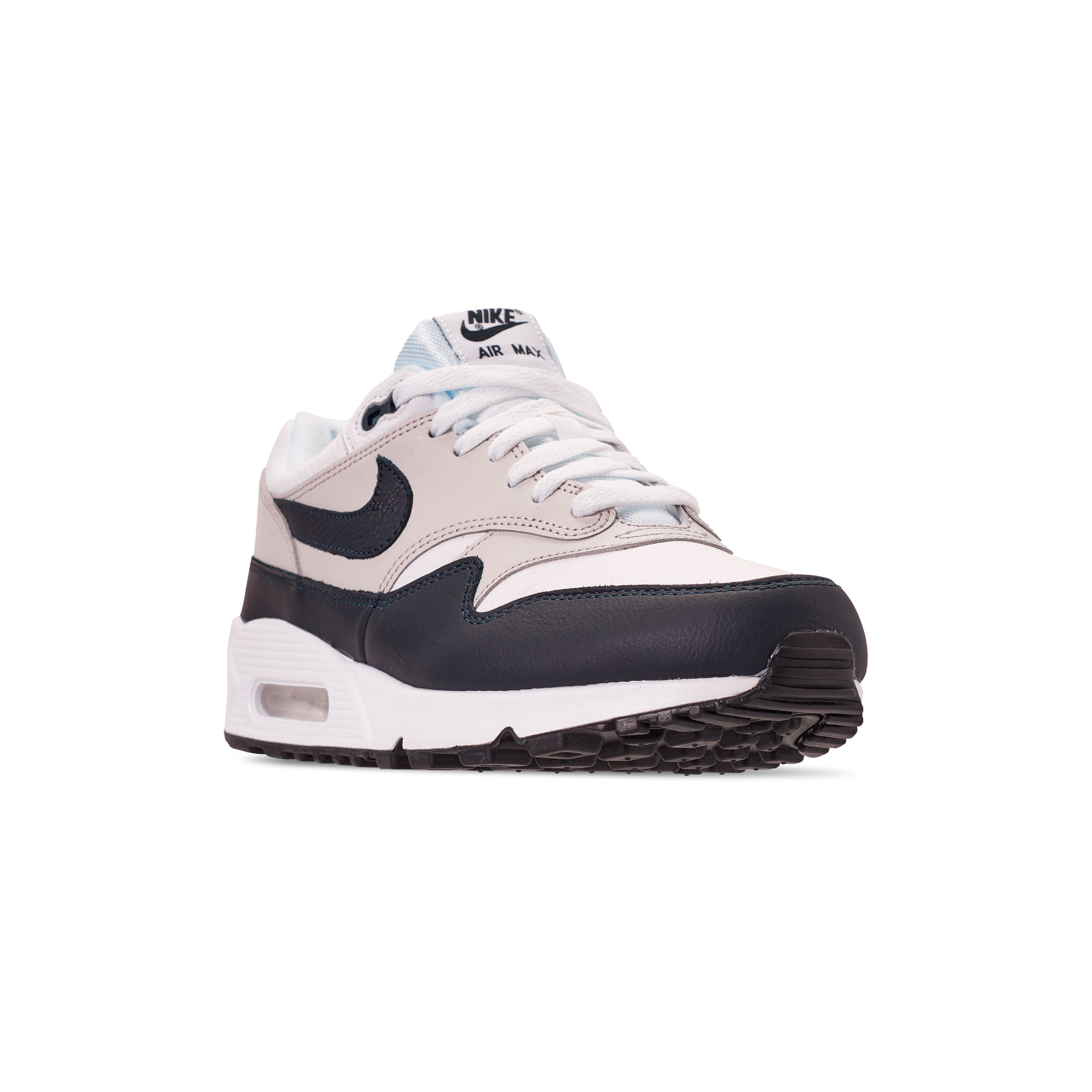 NIKE AIR MAX 90:1 WHITE:DARK OBSIDIAN NEUTRAL GREY BLACK 1