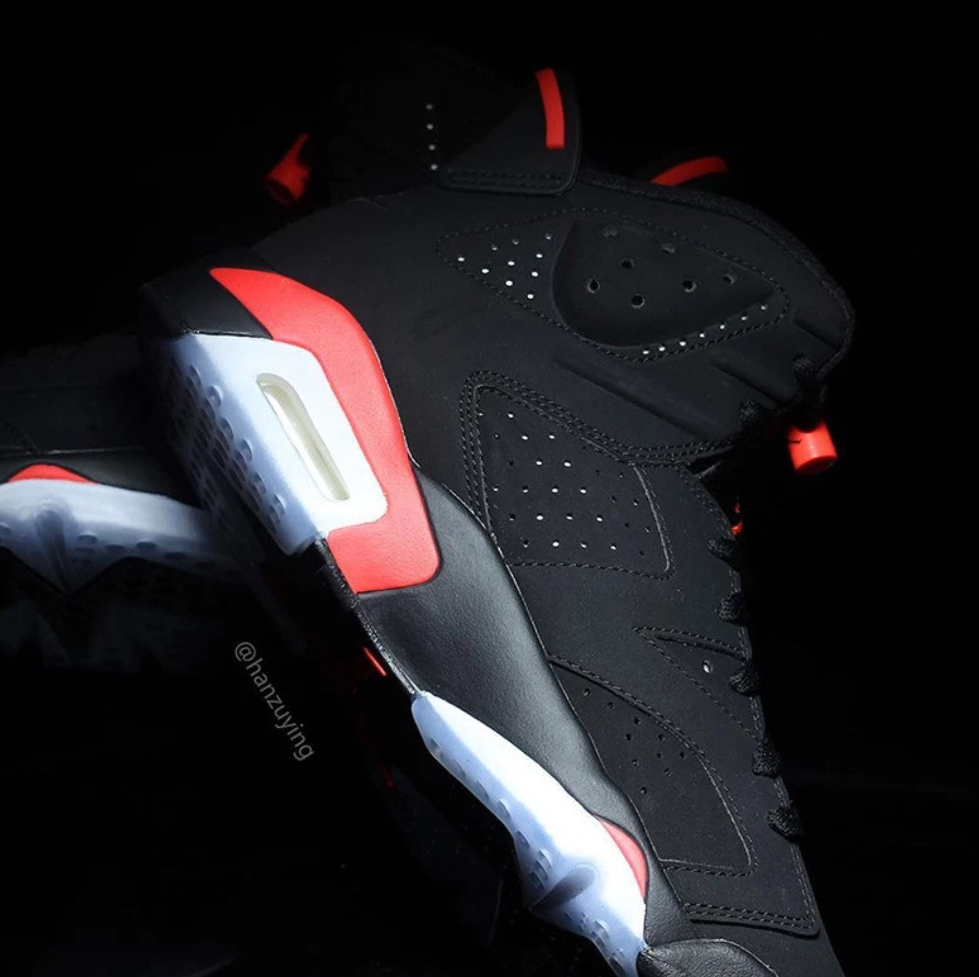 air jordan 6 black infrared medial