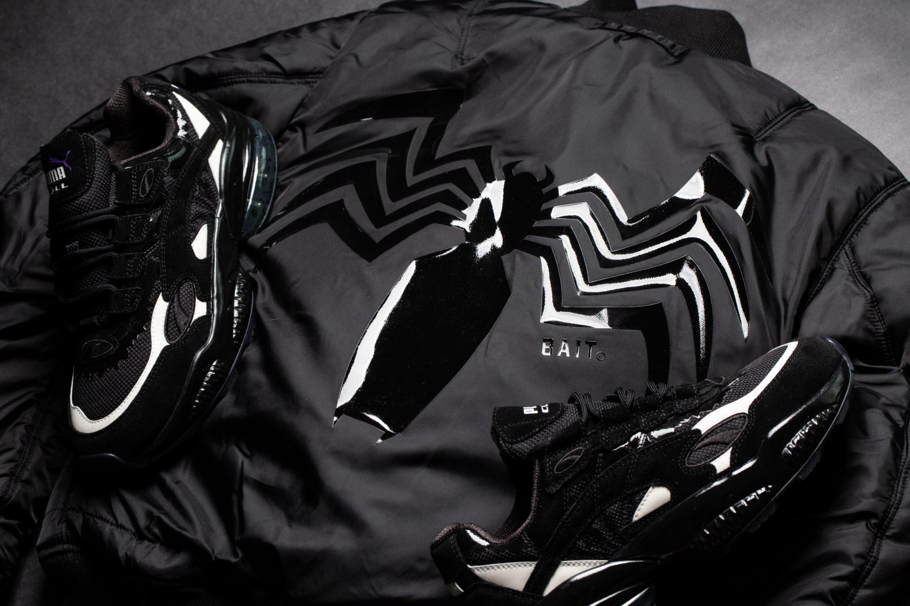 bait x marvel venom x alpha industries MA-1 jacket