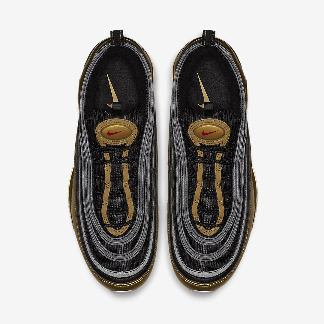 Nike Air Max 97 Qs Black Varsity Red Metallic Gold White