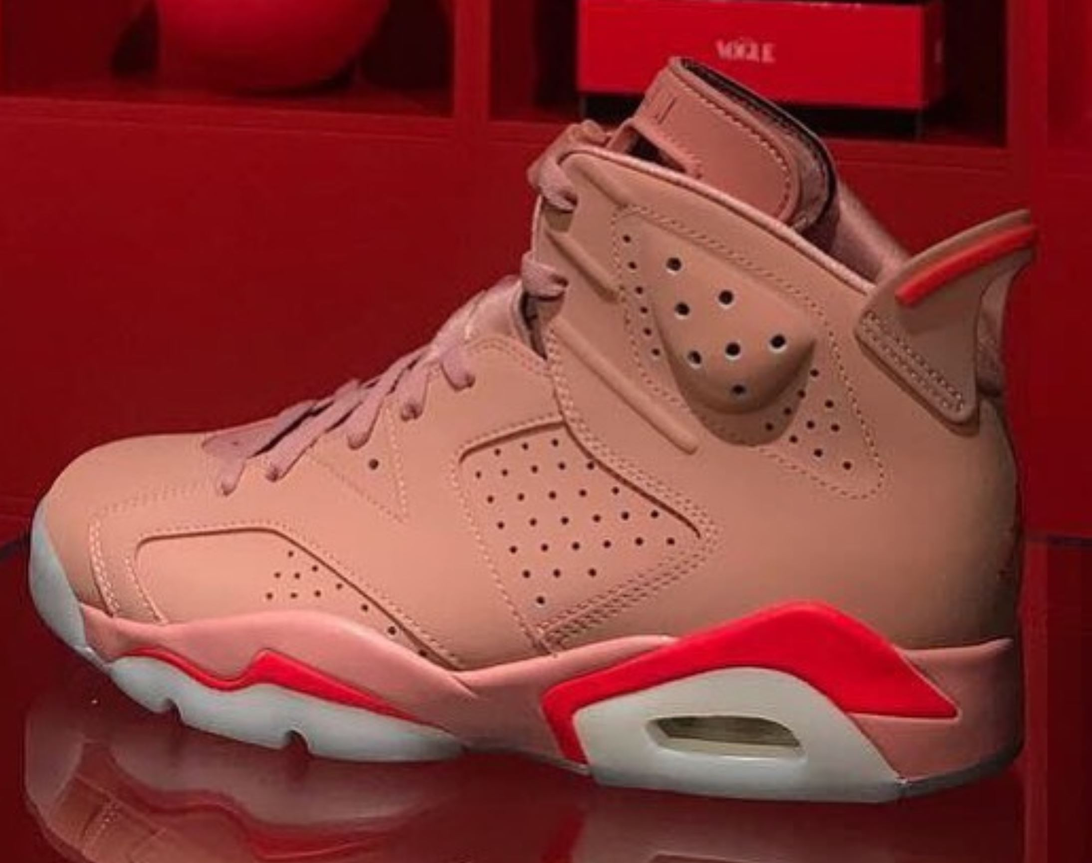aleali may jordan 6 rust pink