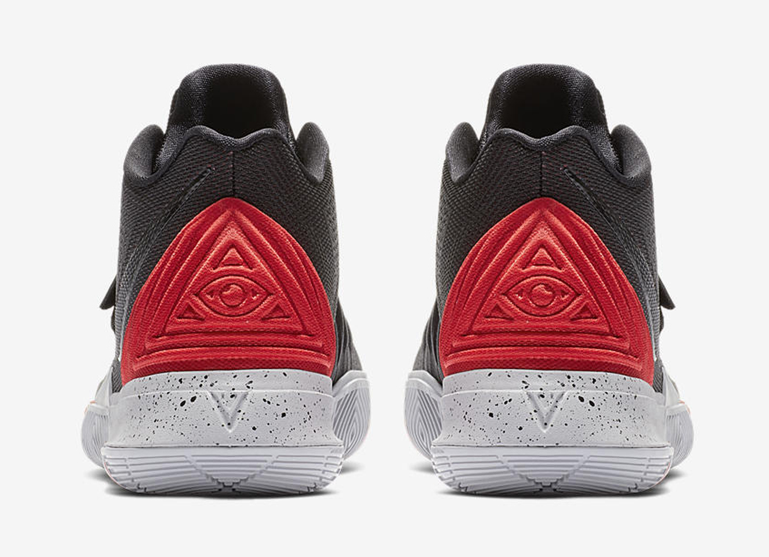 kyrie 5 black and red