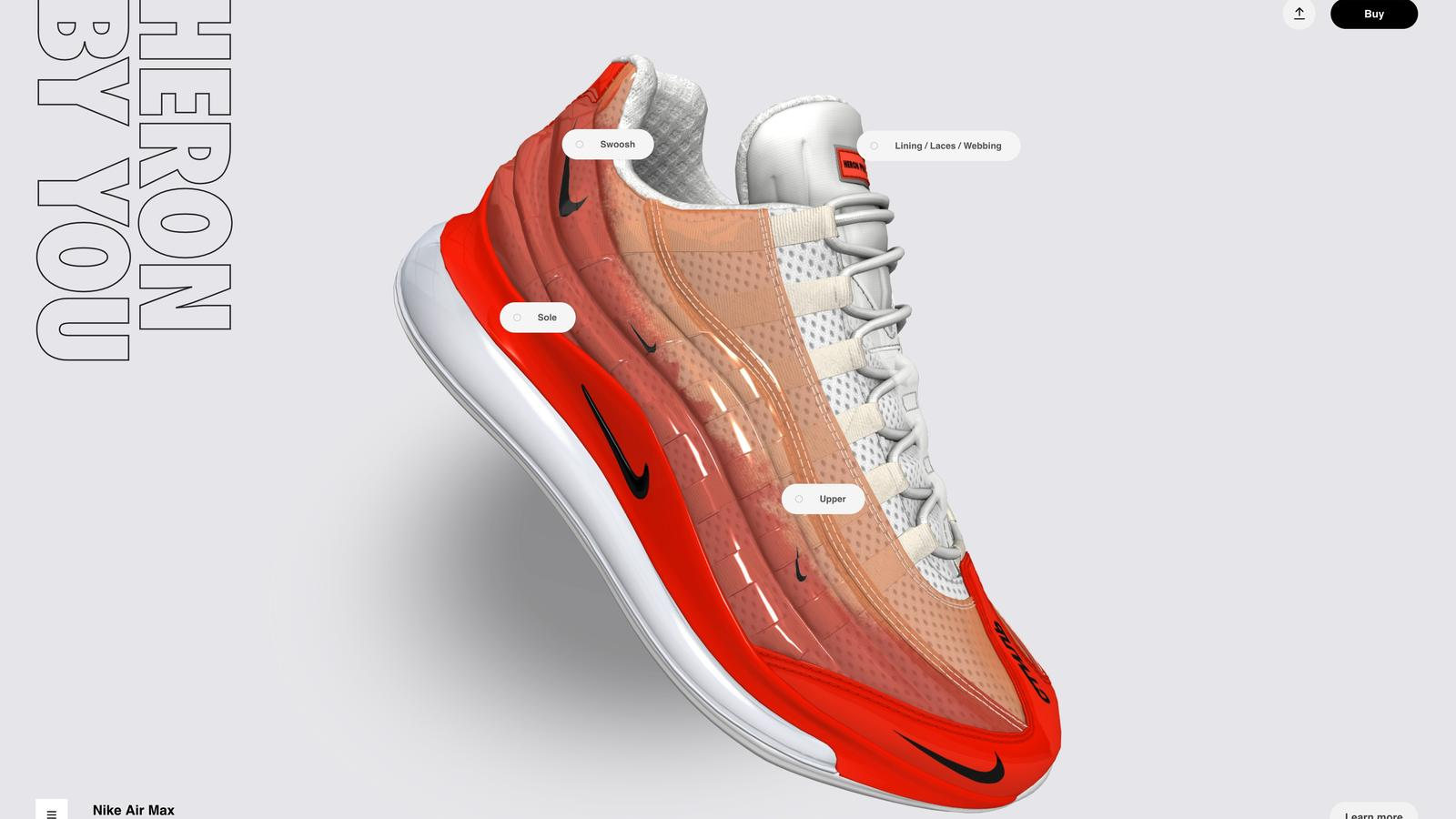 nike air max 720 95 heron preston by you