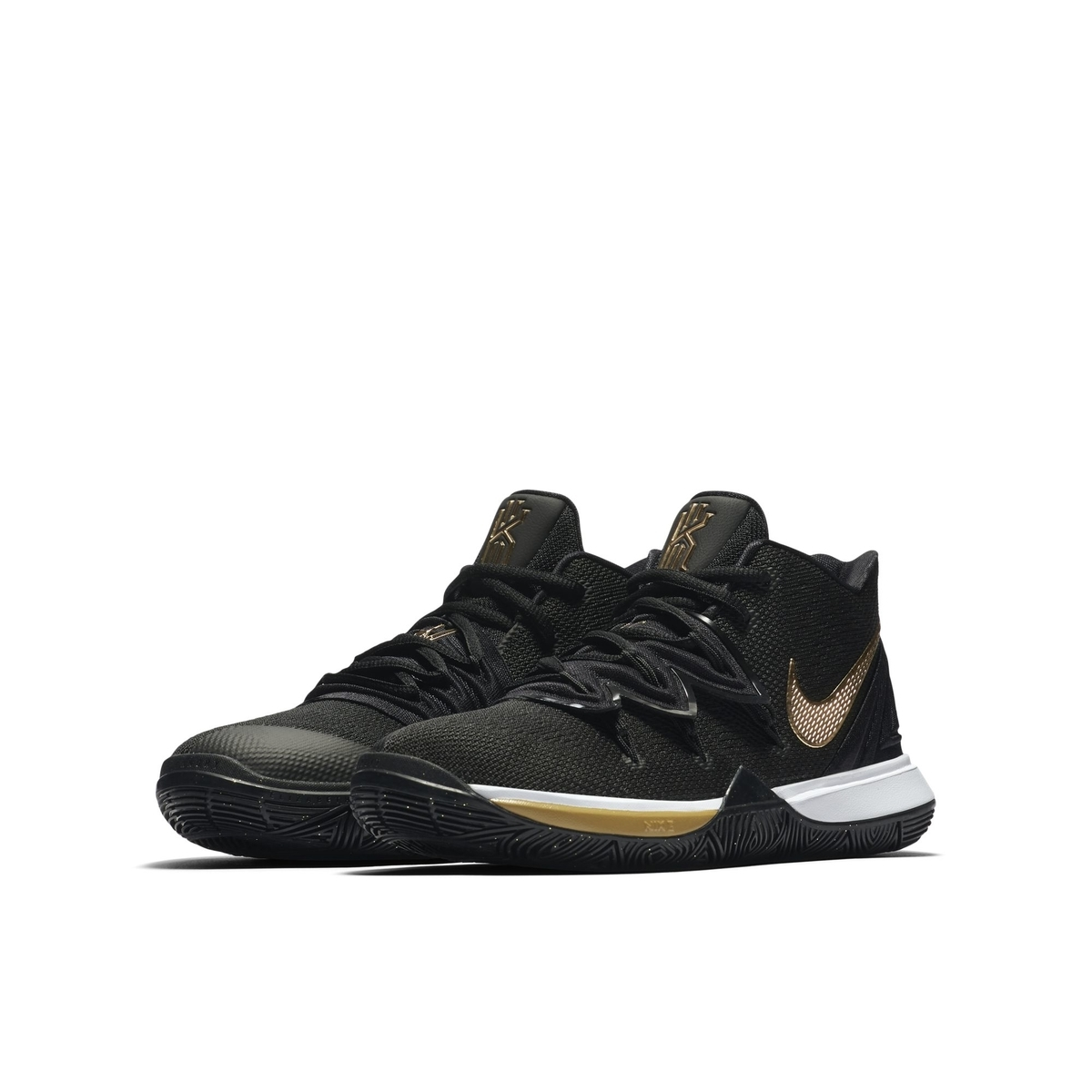 NIKE KYRIE 5 BG BLACK:METALLIC GOLD:WHITE:WOLF GREY 1