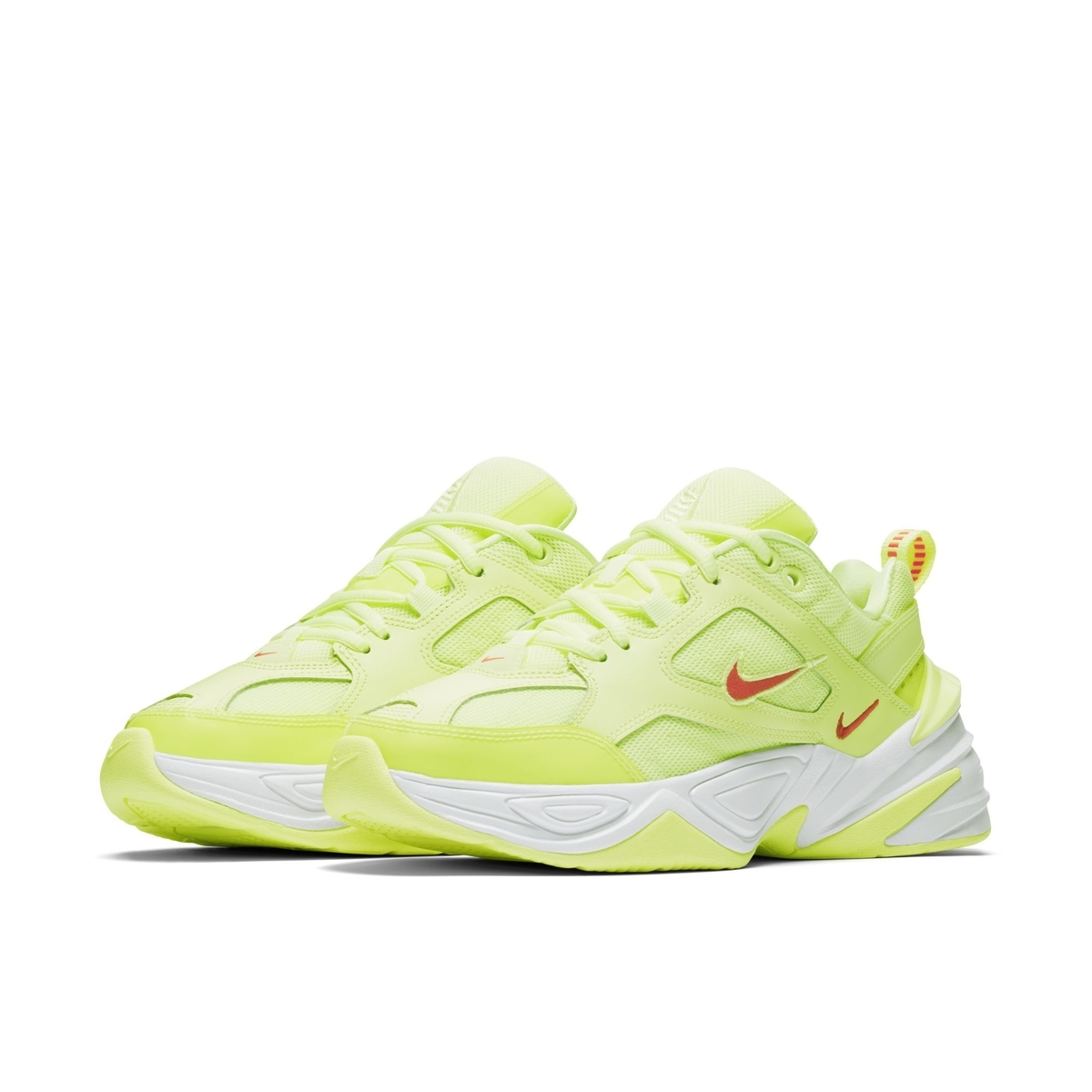 NIKE M2K TEKNO BARELY VOLT:WHITE:RED ORBIT 1
