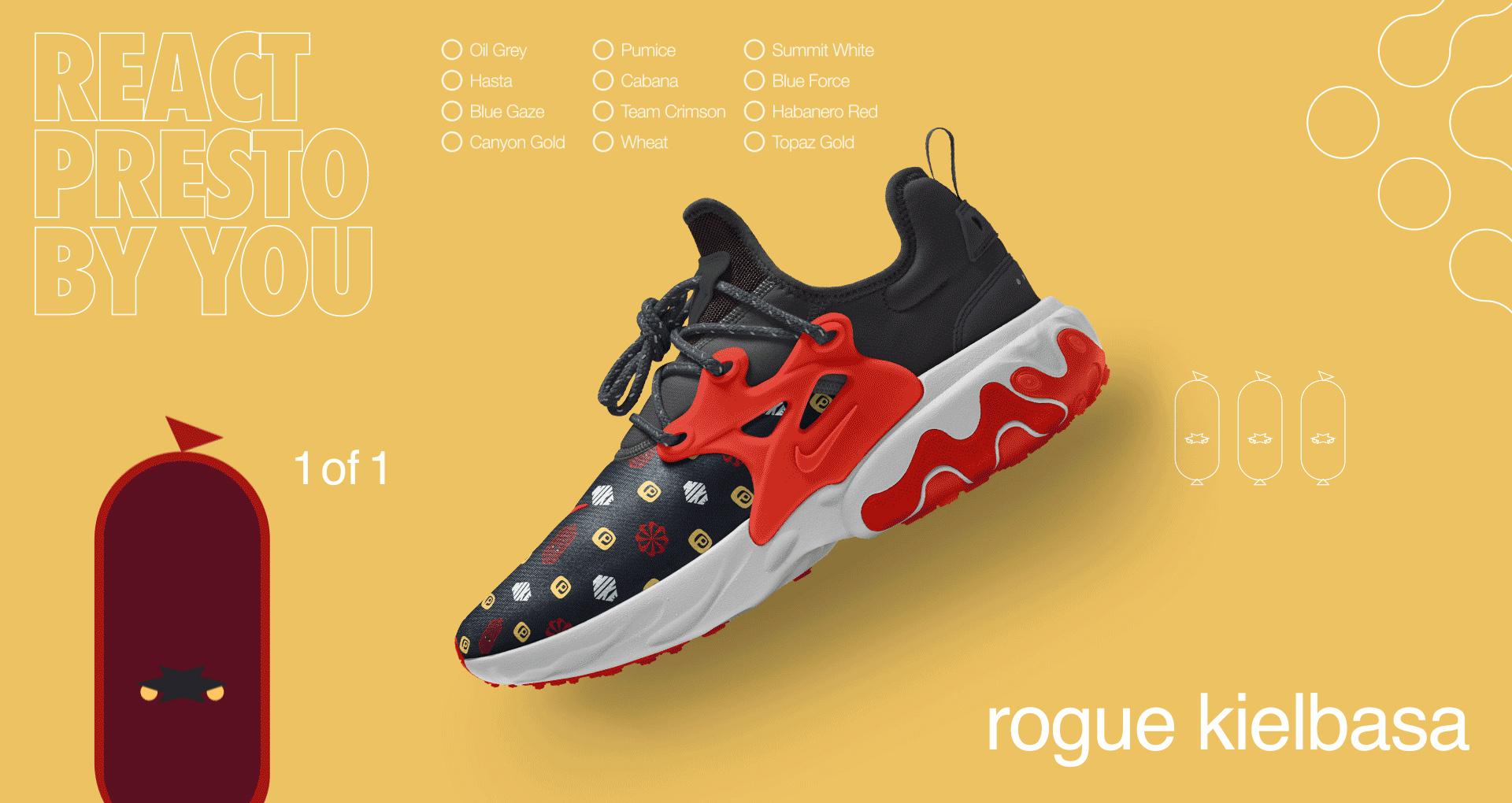Riego lamentar Centrar  Nike-React-Presto-NIKEiD-Rogue-Kielbasa - WearTesters