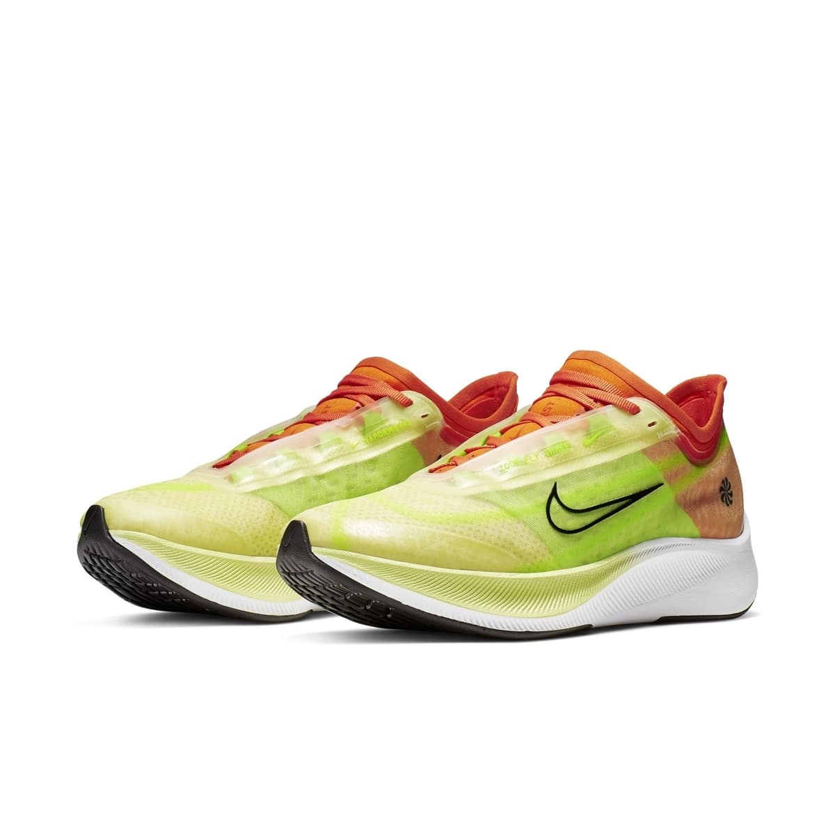 WMNS NIKE ZOOM FLY 3 RISE LUMINOUS GREEN:BLACK:STARFISH:ELECTRIC GREEN:WHITE 1