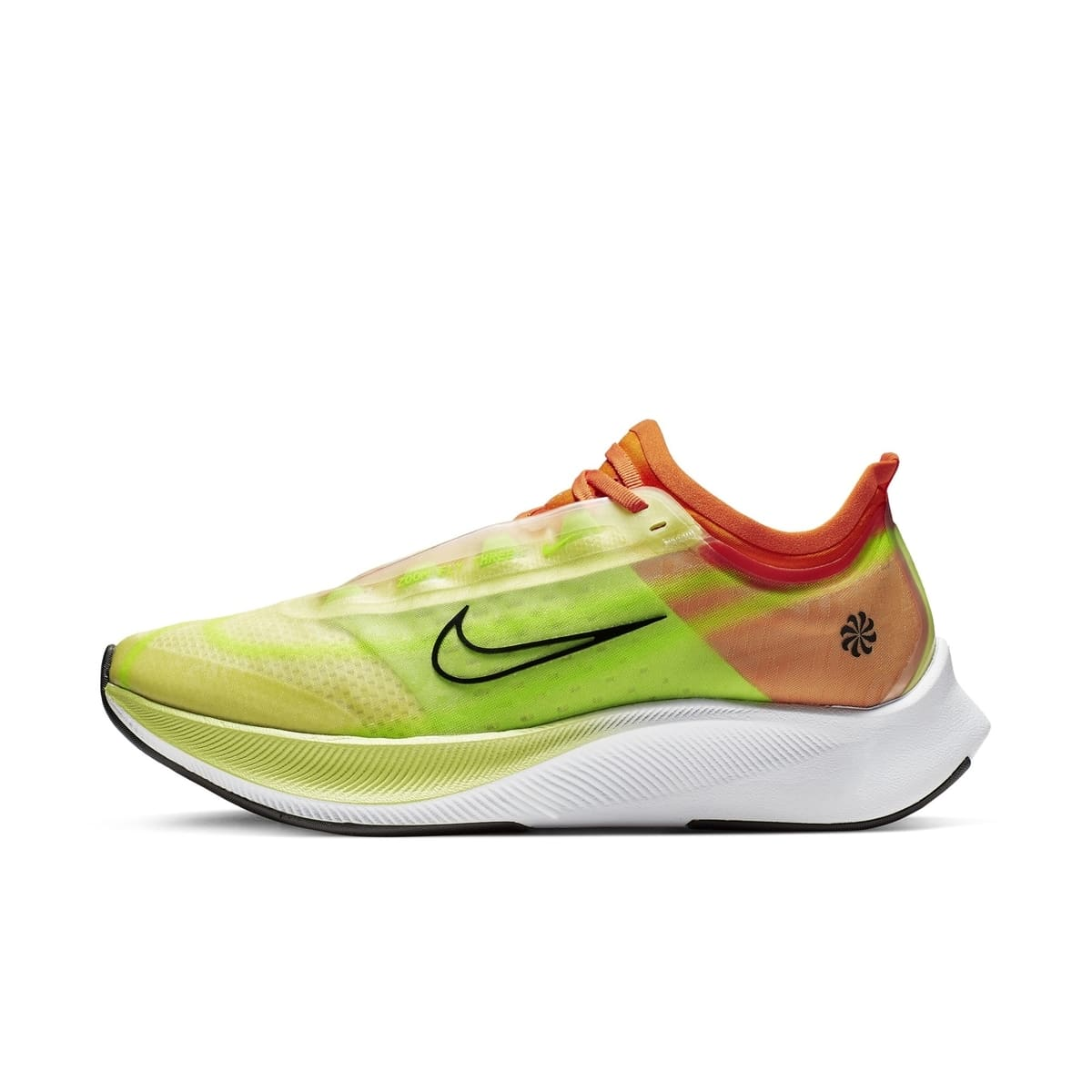 WMNS NIKE ZOOM FLY 3 RISE LUMINOUS GREEN:BLACK:STARFISH:ELECTRIC GREEN:WHITE 3