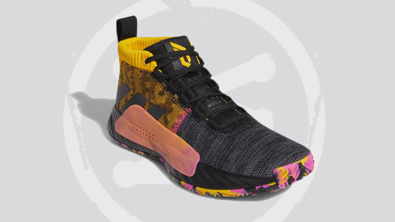 adidas Dame 5 black and yellow