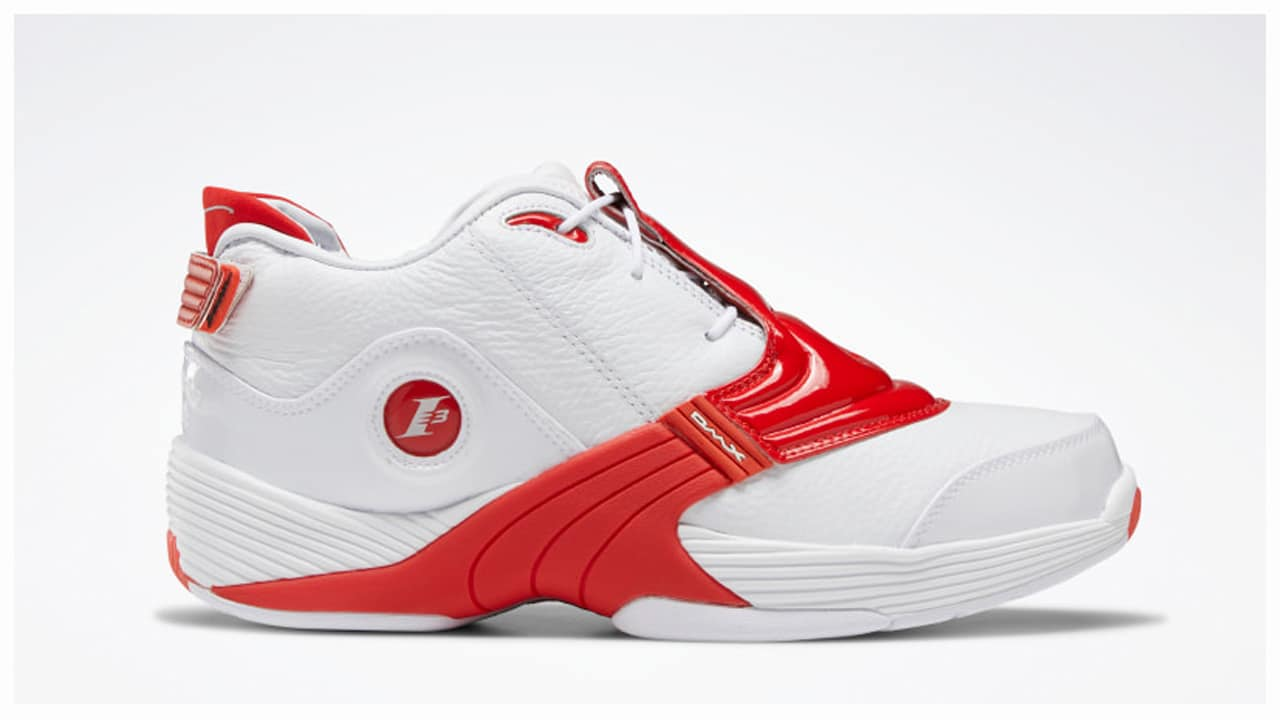 The Reebok Answer 5 White/Red Has a