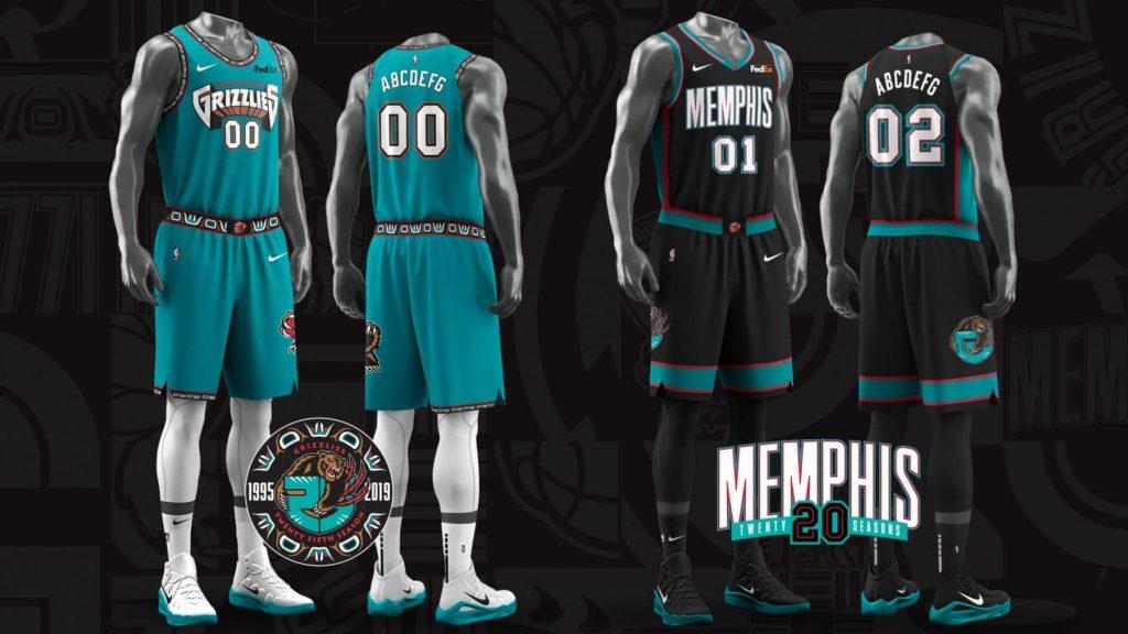 finest selection bd584 c4a86 Memphis Grizzlies Bring Back Classic Uniforms For 25th ...