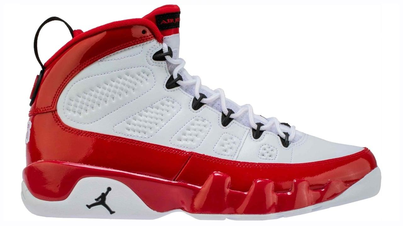 Air Jordan 9 White/Black-Gym Red