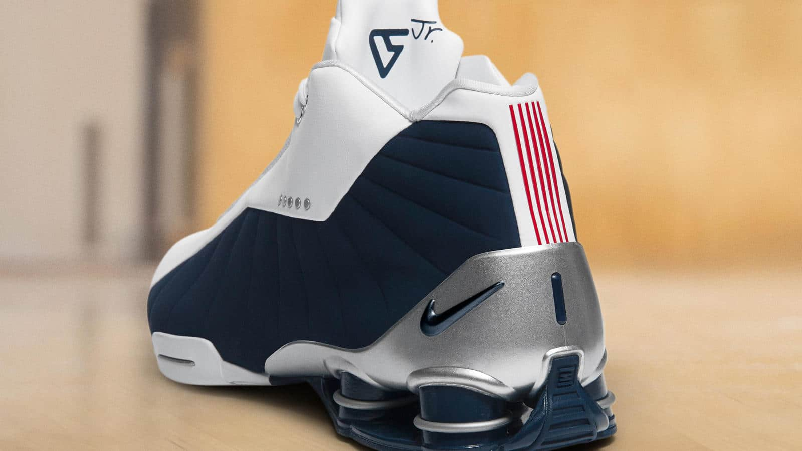 The Nike SHOX BB4 White/Midnight Navy Has a New Release Date ...