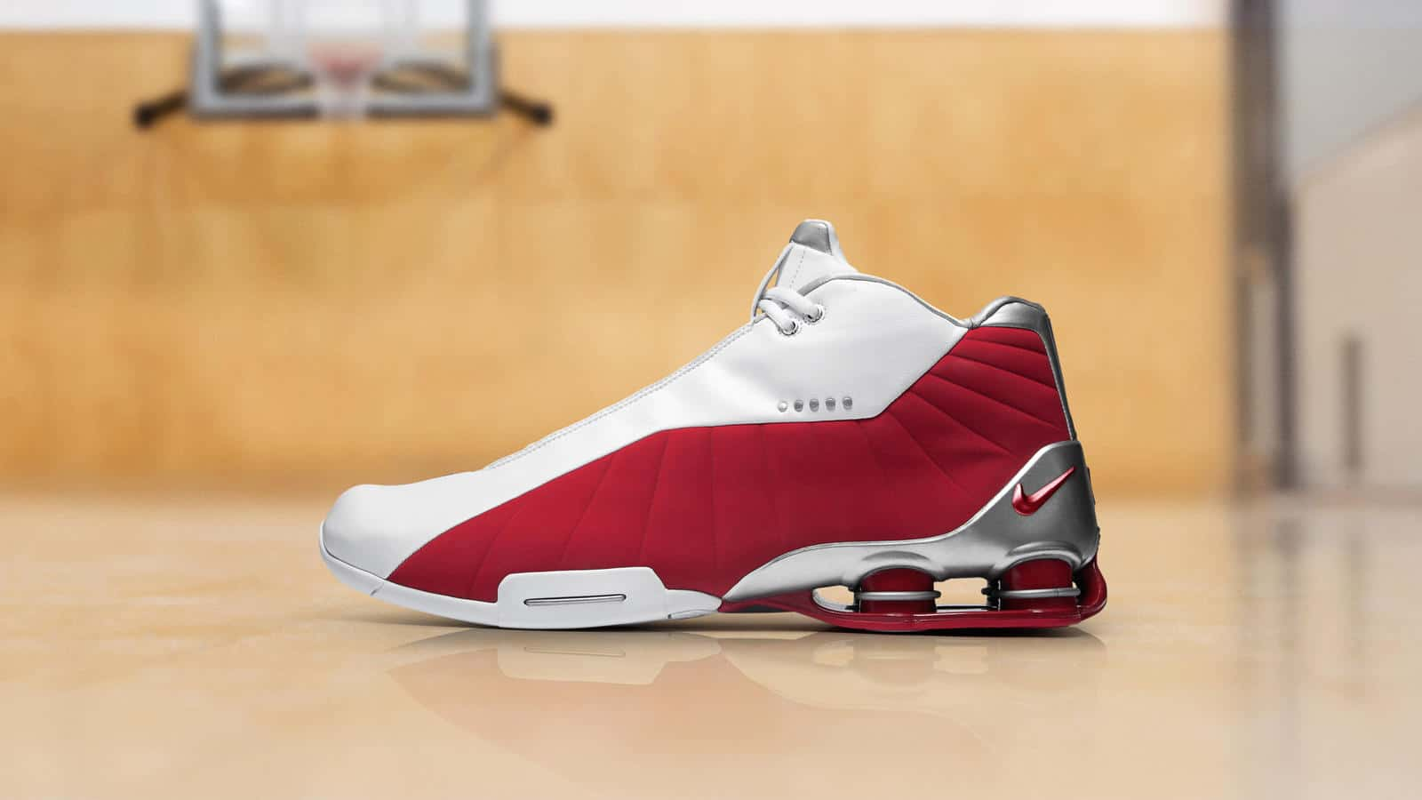 The Nike SHOX BB4 White/Metallic Silver/Varsity Red Has a Release Date